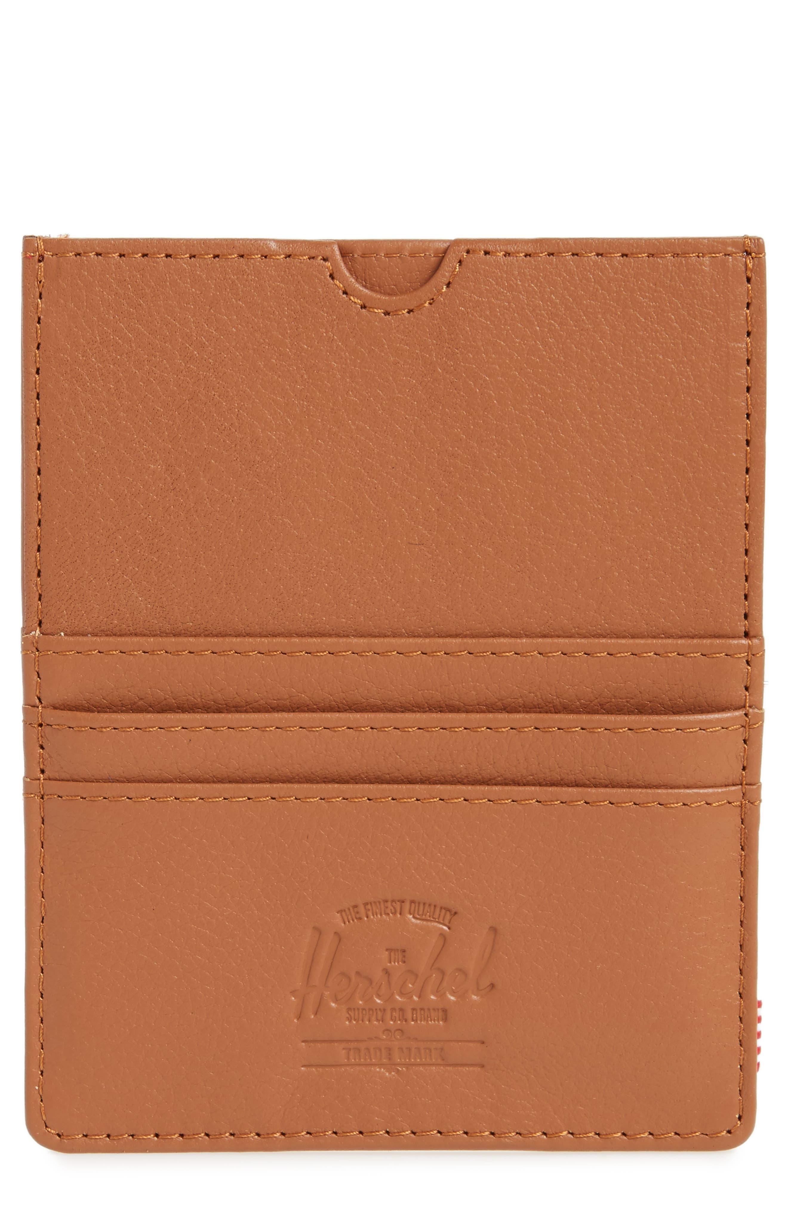 Eugene Leather Card Case,                         Main,                         color, Tan