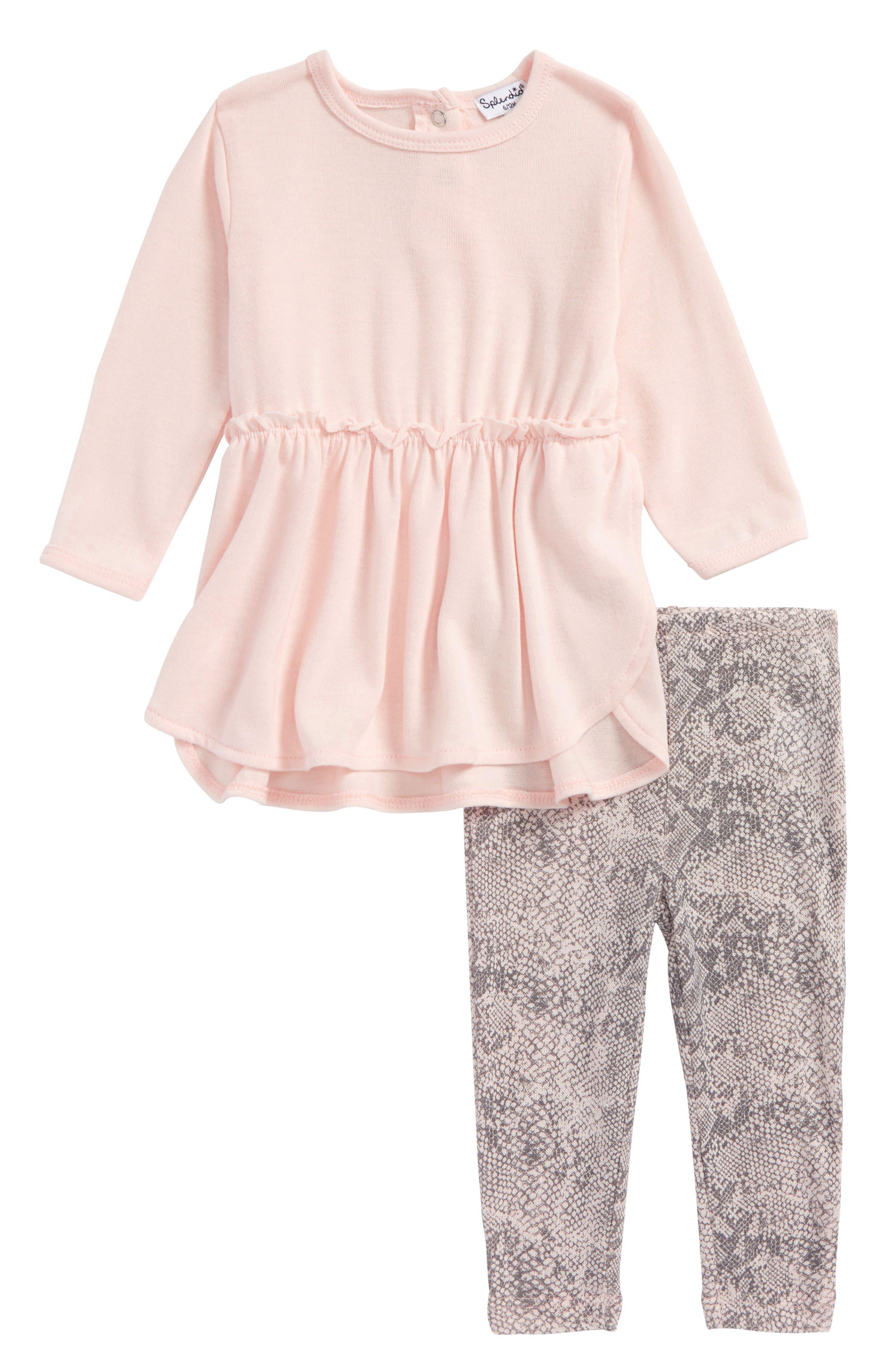 Tunic & Leggings Set,                             Main thumbnail 1, color,                             Light Pink