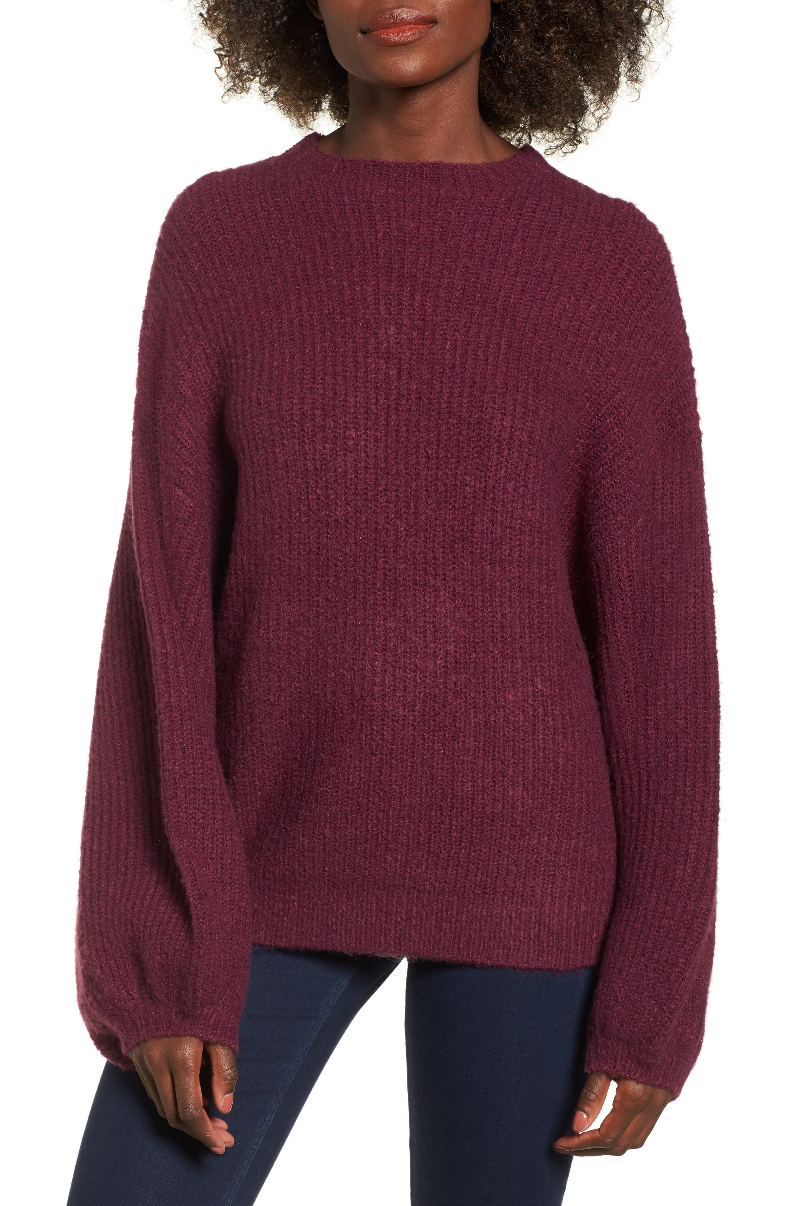 Main Image - Lost + Wander Cabernet Sweater