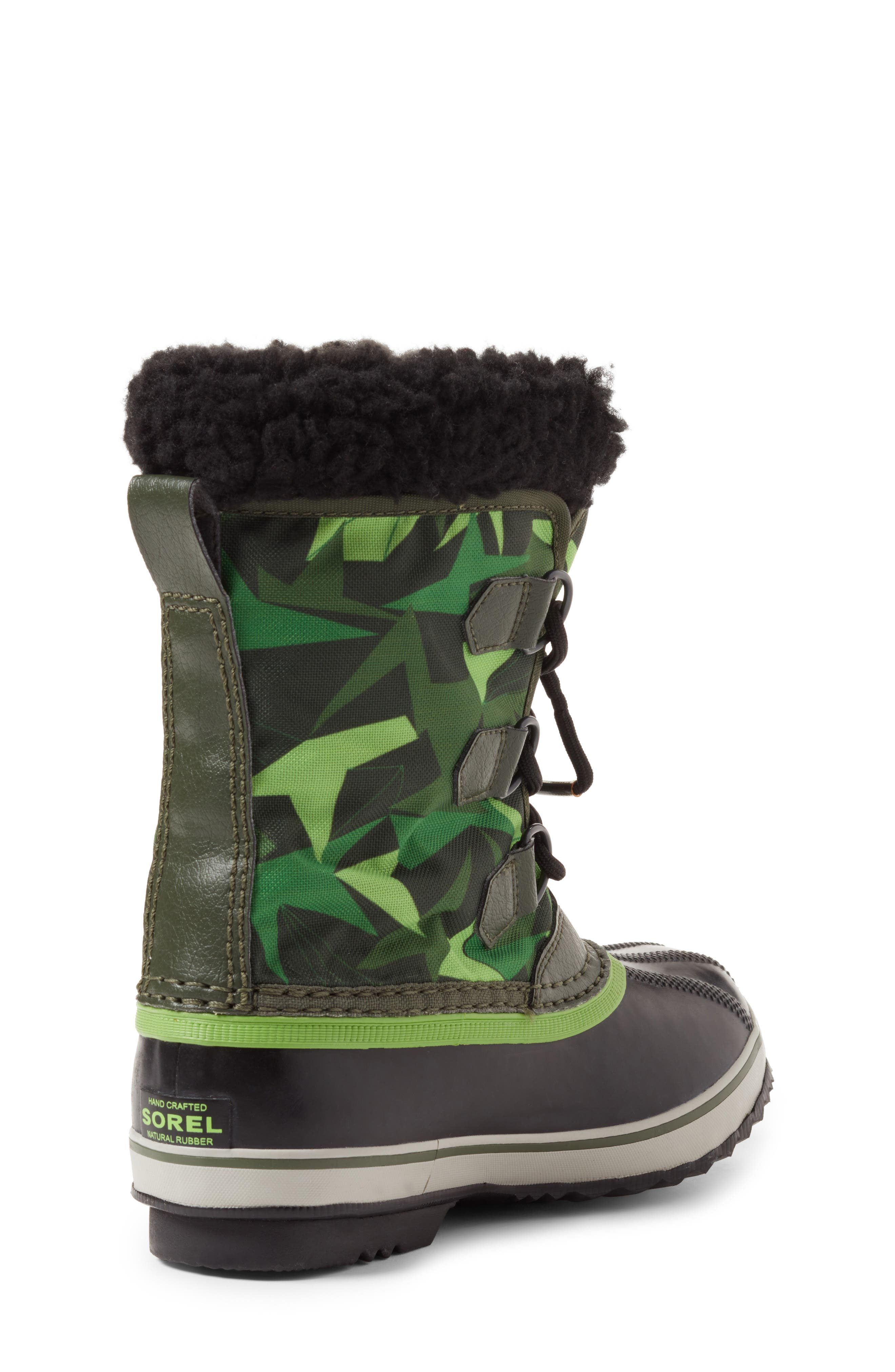 Yoot Pac Waterproof Insulated Snow Boot,                             Alternate thumbnail 3, color,                             Surplus Green/ Green Mamba