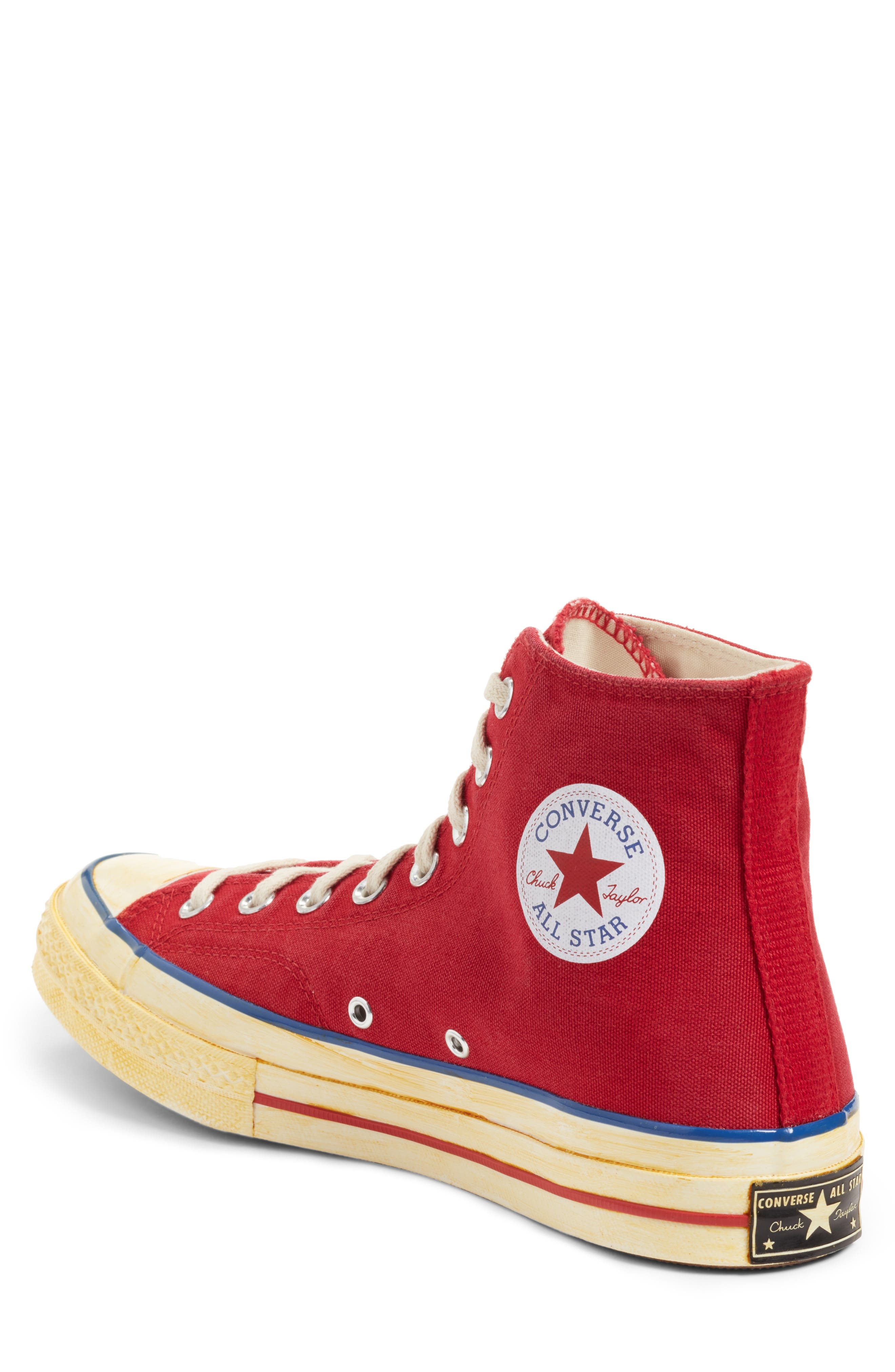 Chuck Taylor<sup>®</sup> All Star<sup>®</sup> 70 High Top Sneaker,                             Alternate thumbnail 3, color,                             Red