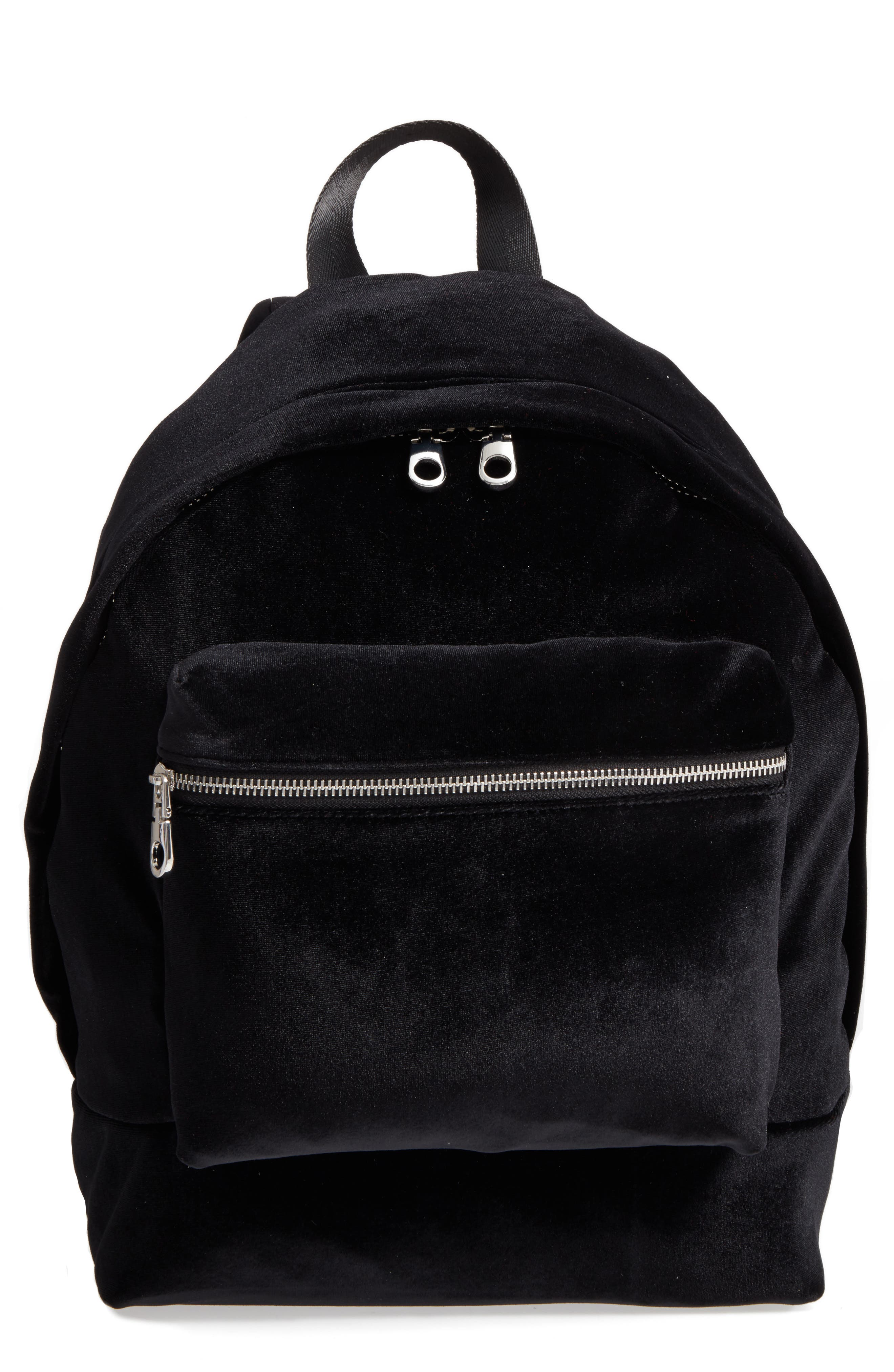 Velvet Backpack,                             Main thumbnail 1, color,                             Black