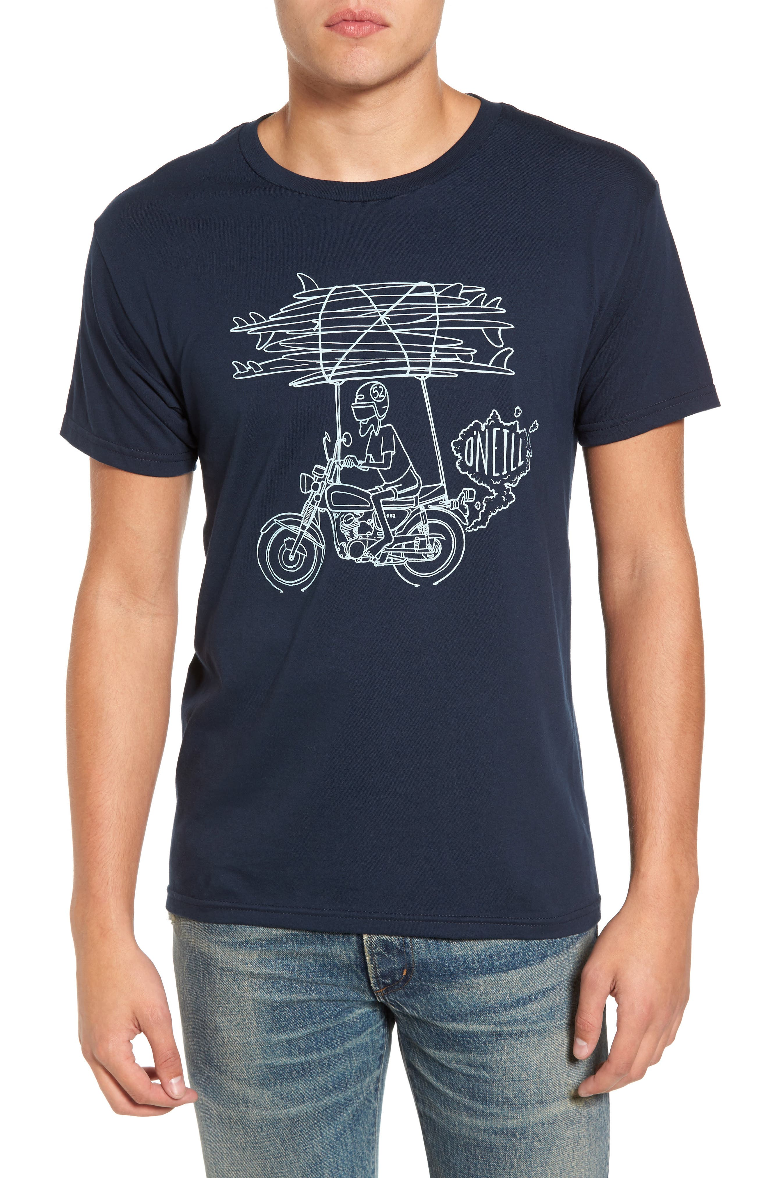 Rider Graphic T-Shirt,                         Main,                         color, Navy