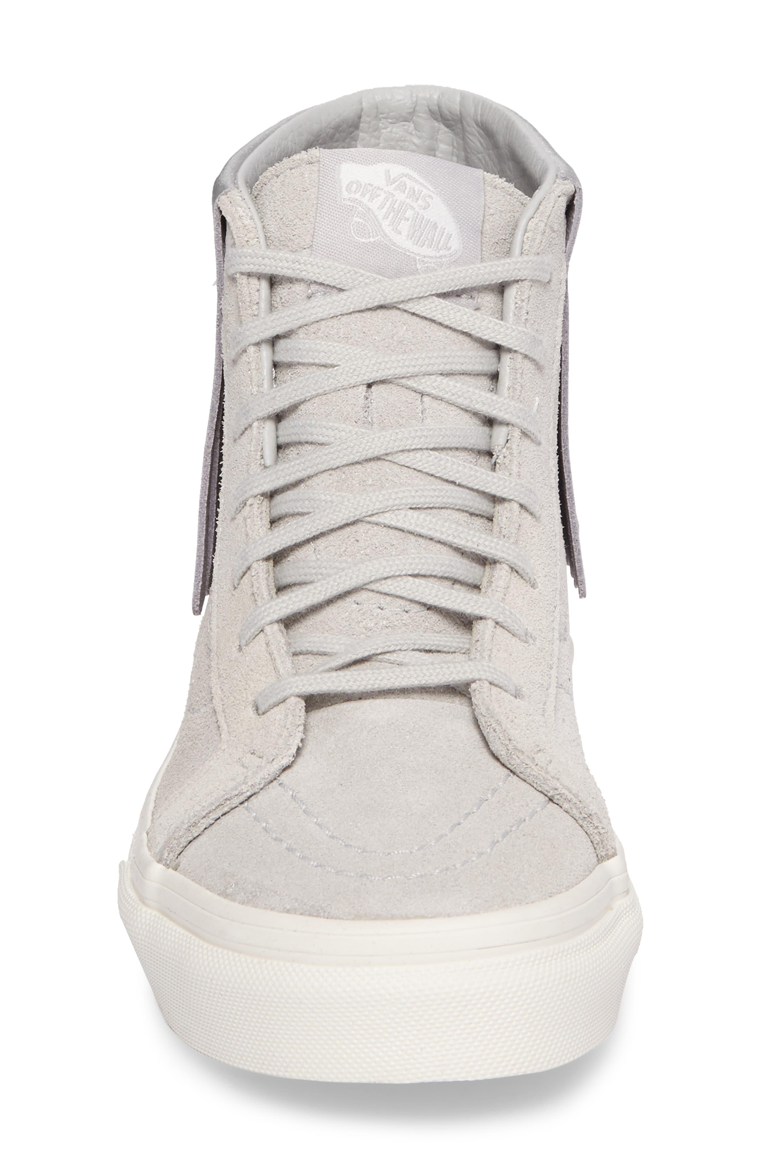Sk8-Hi Moc Sneaker,                             Alternate thumbnail 4, color,                             Metallic Glacier Gray