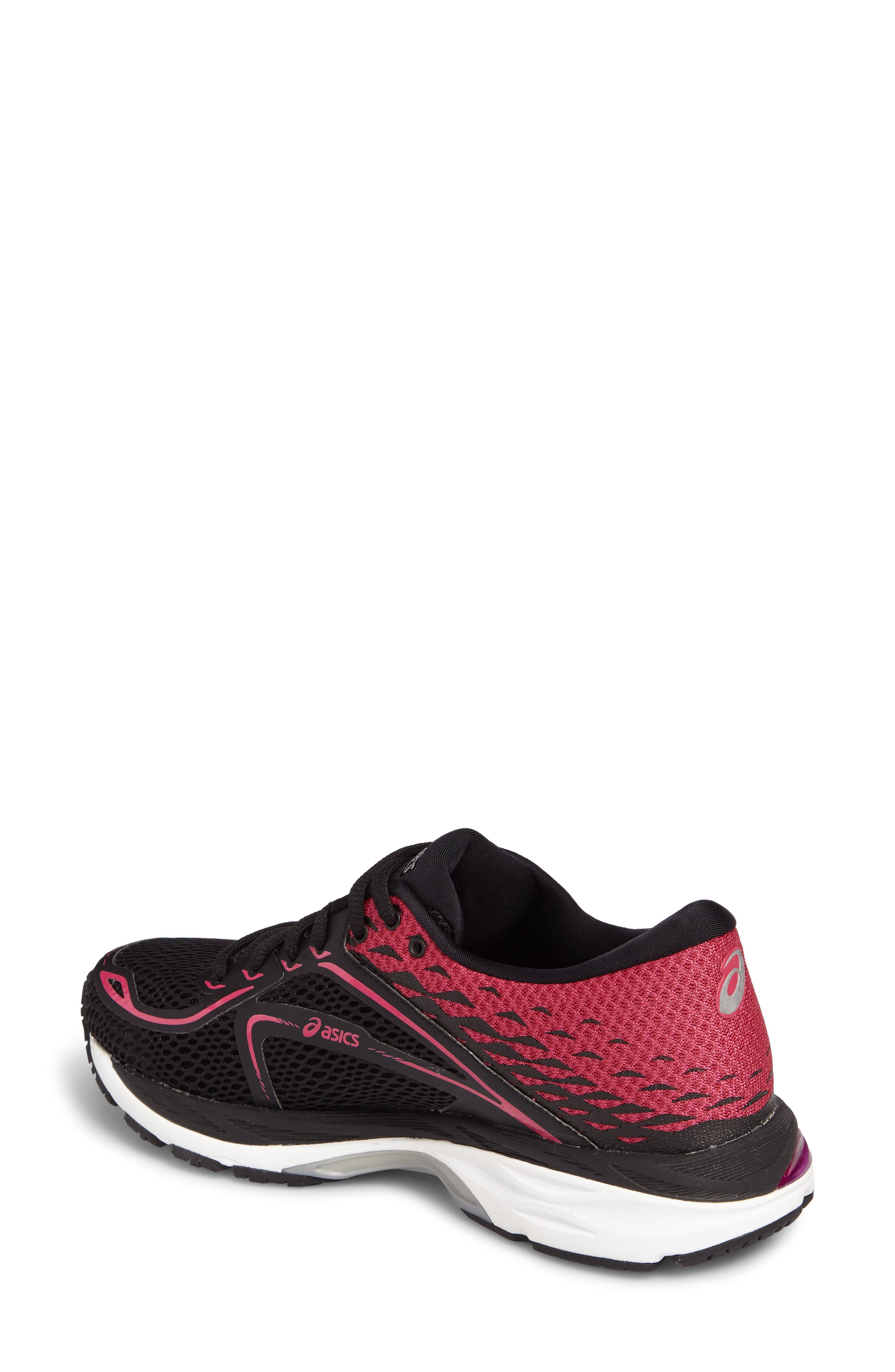 Gel Cumulus 19 2A Running Shoe,                             Alternate thumbnail 2, color,                             Black/ Silver/ Pink Peacock