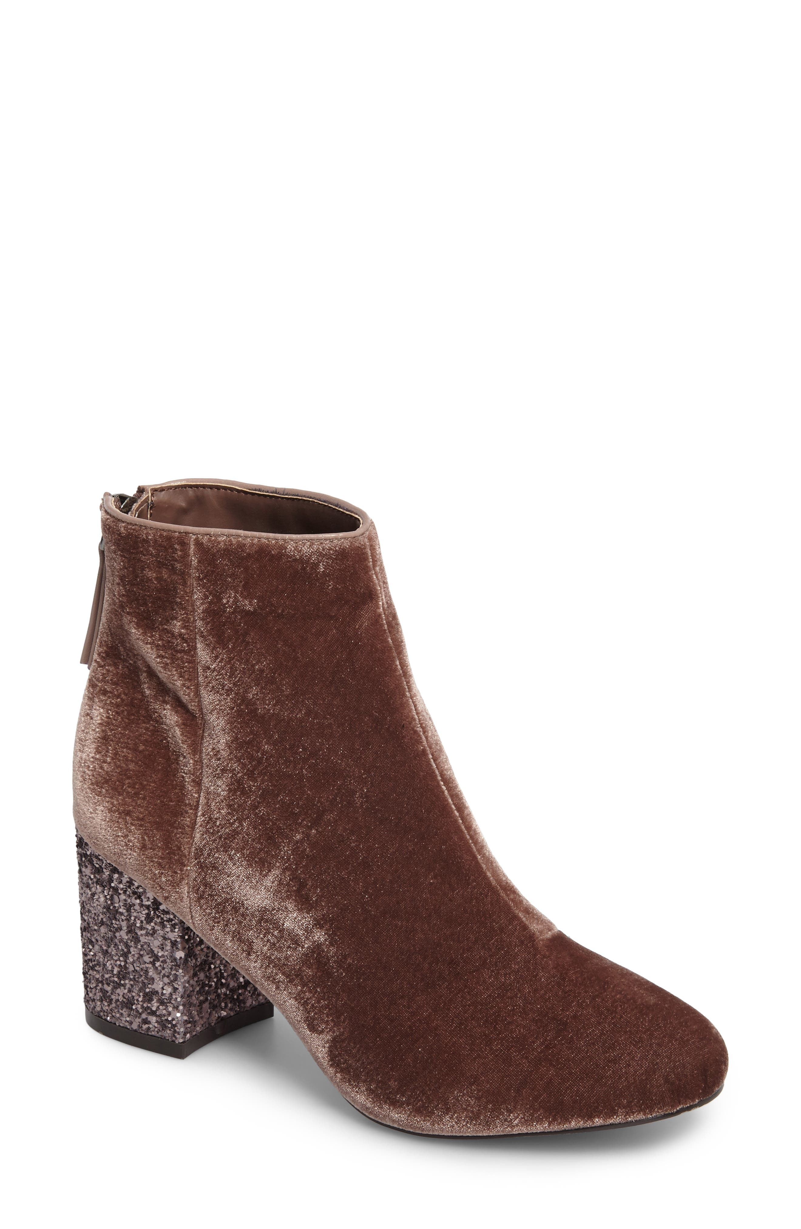 Prismatic Bootie,                             Main thumbnail 1, color,                             Mauve Velvet