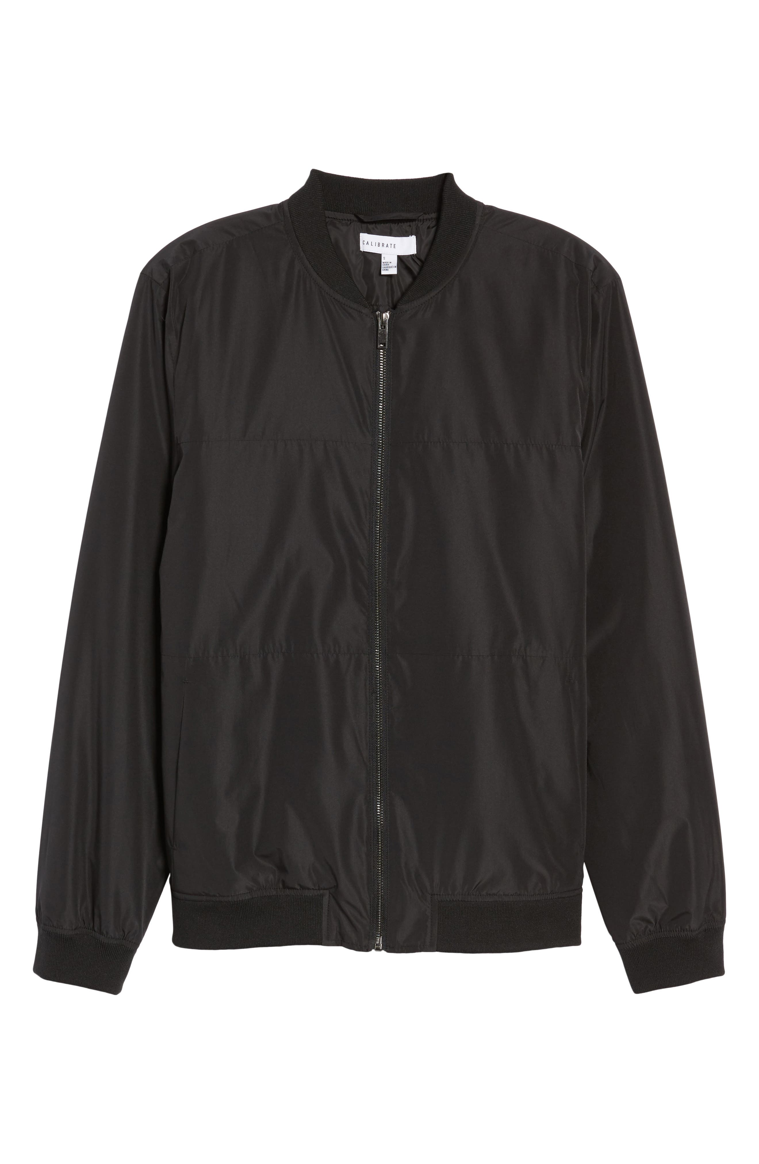 Lightweight Bomber Jacket,                             Alternate thumbnail 6, color,                             Black