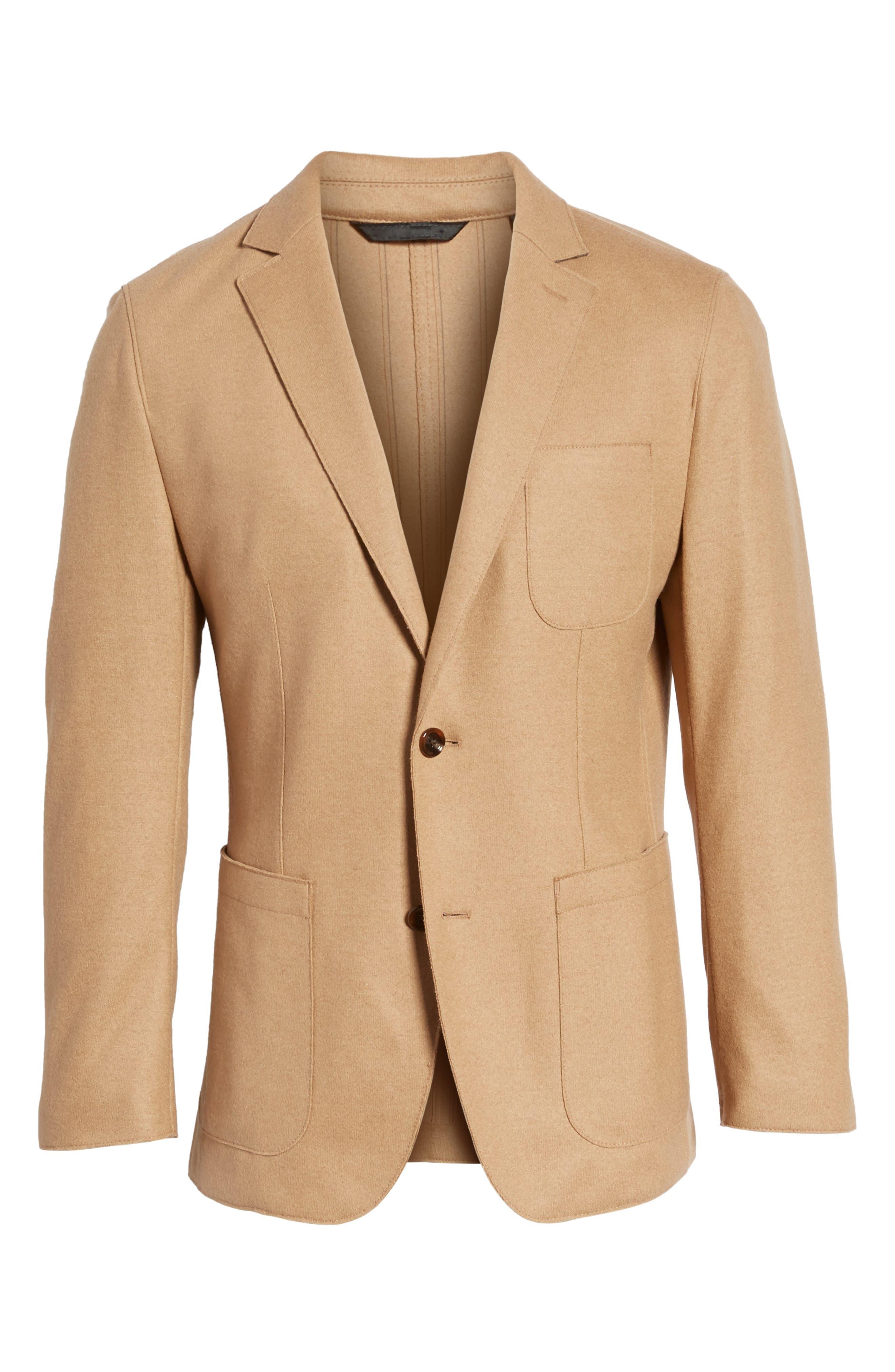 Alternate Image 6  - BOSS Nordin Trim Fit Virgin Wool Sport Coat