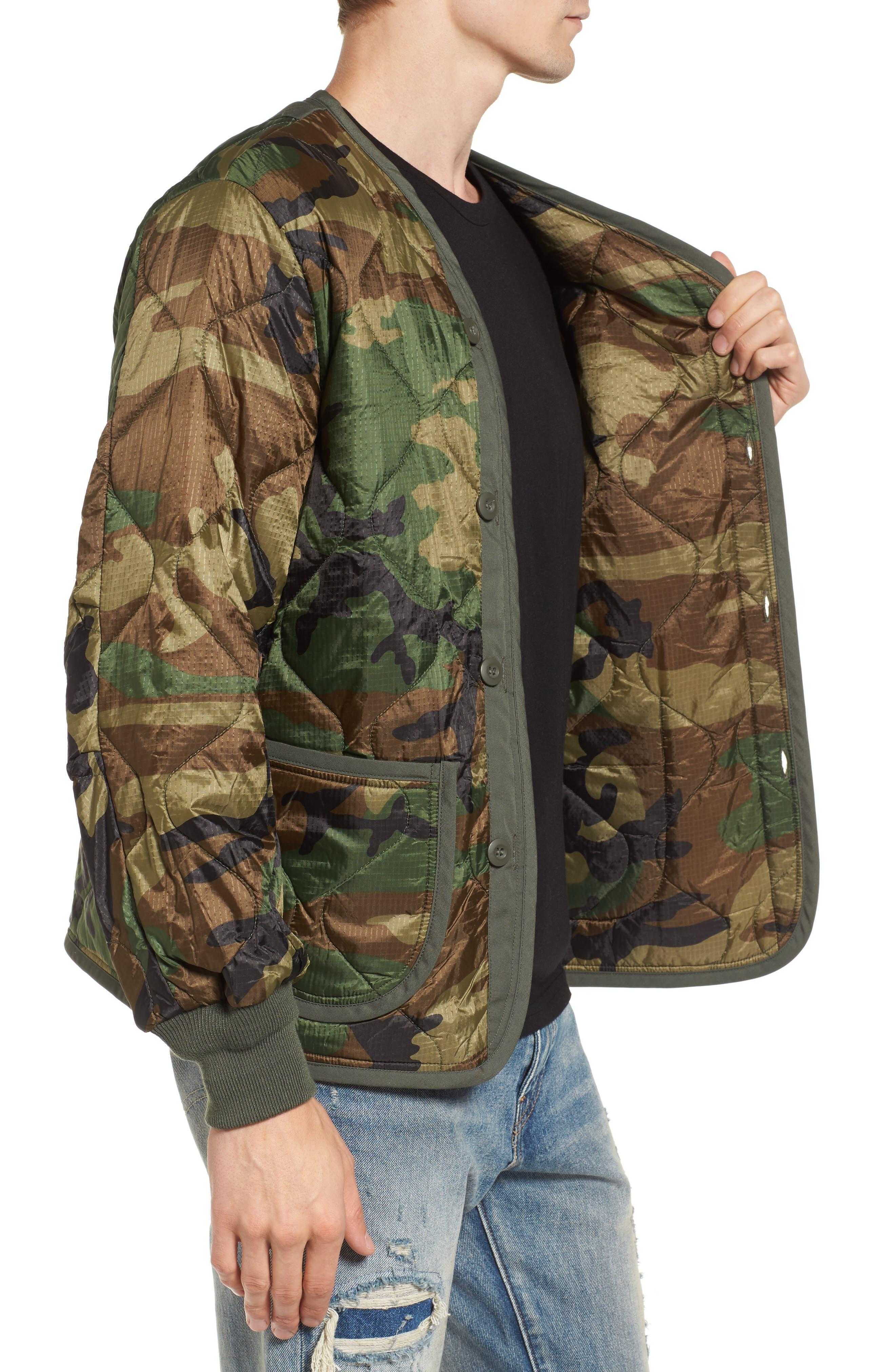 M-65 Defender Liner Jacket,                             Alternate thumbnail 3, color,                             Woodland Camo