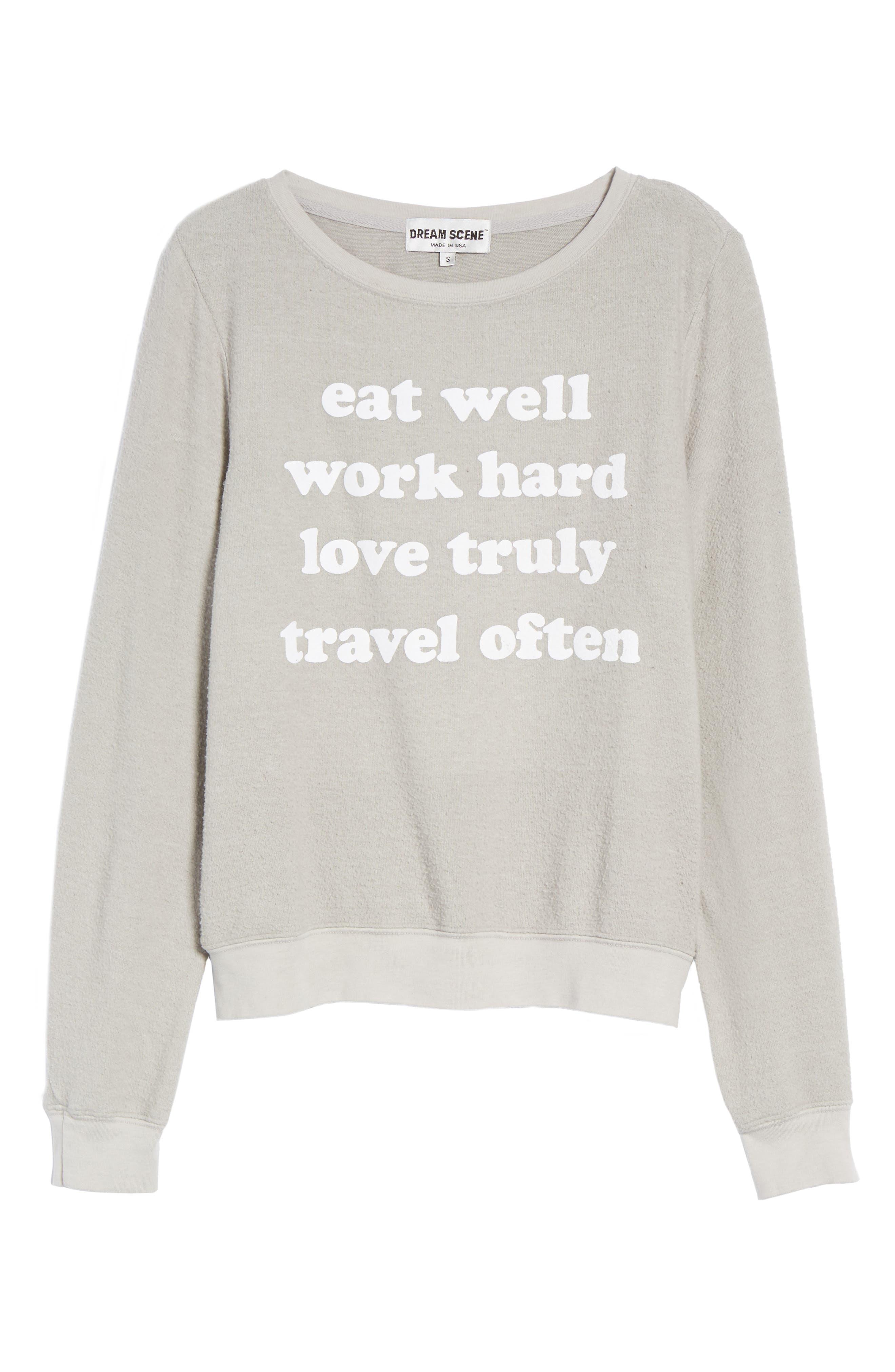 Alternate Image 6  - Dream Scene Eat Well Sweatshirt