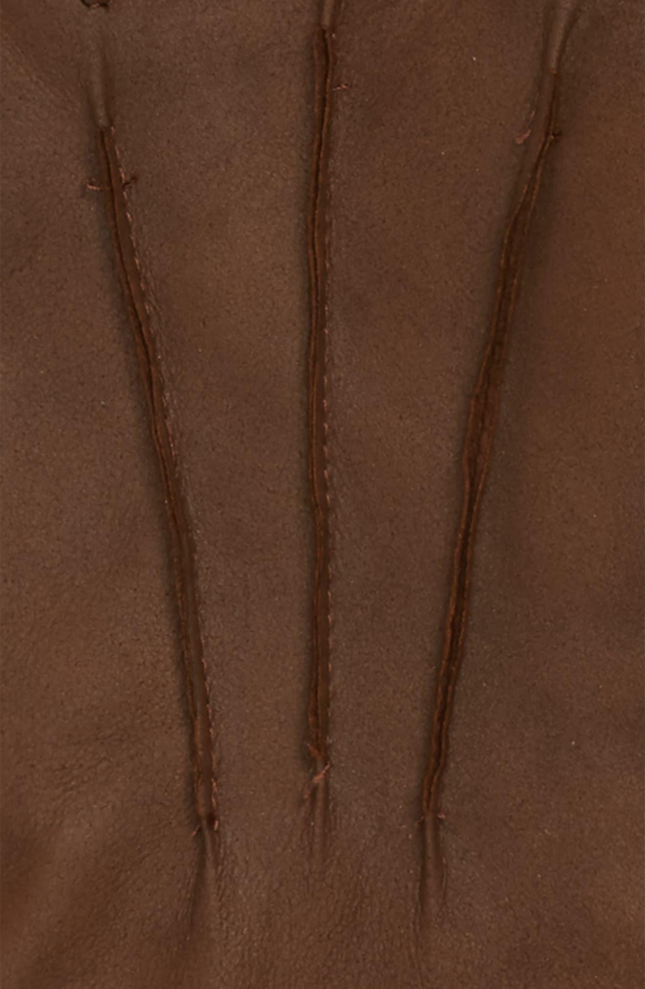Leather Gloves,                             Alternate thumbnail 2, color,                             Brown Chestnut