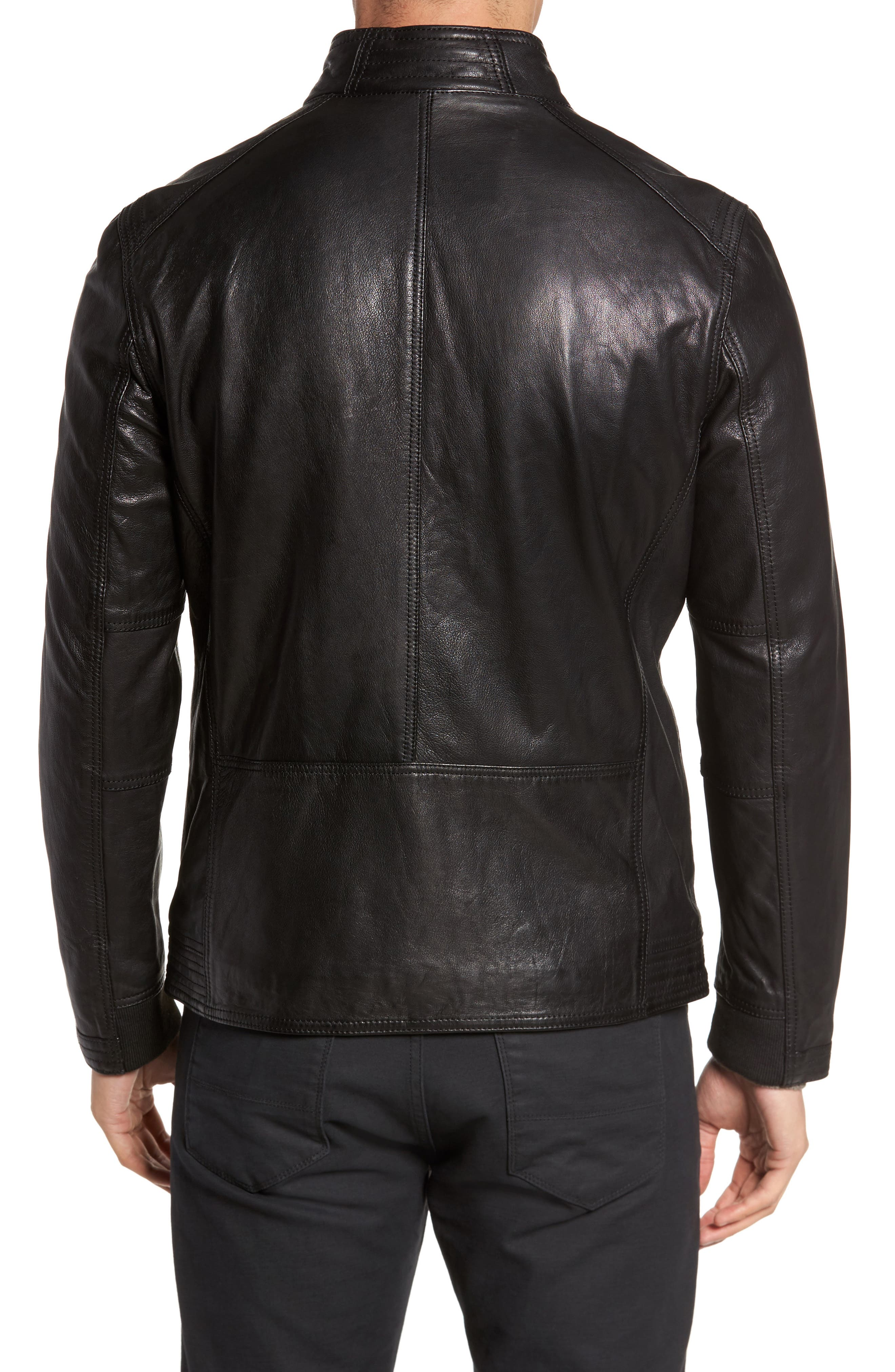 Alternate Image 2  - Cole Haan Washed Leather Jacket