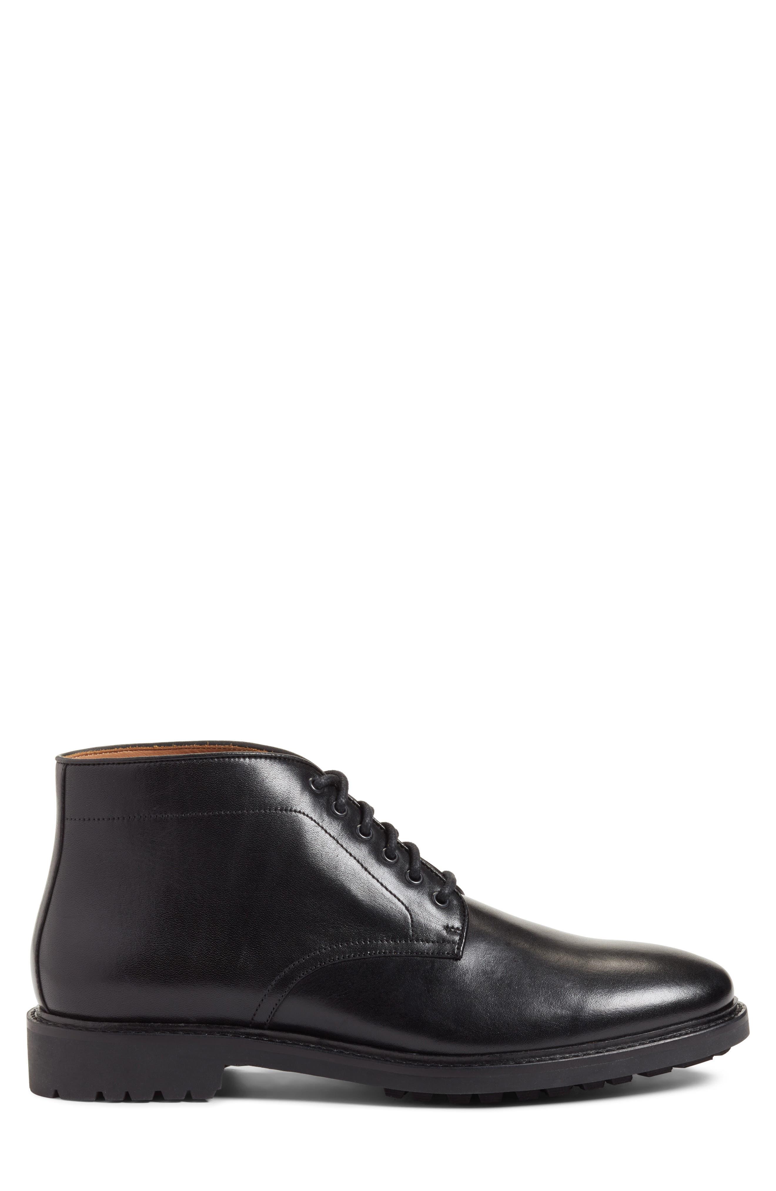 Ramiro Plain Toe Boot,                             Alternate thumbnail 3, color,                             Black Leather