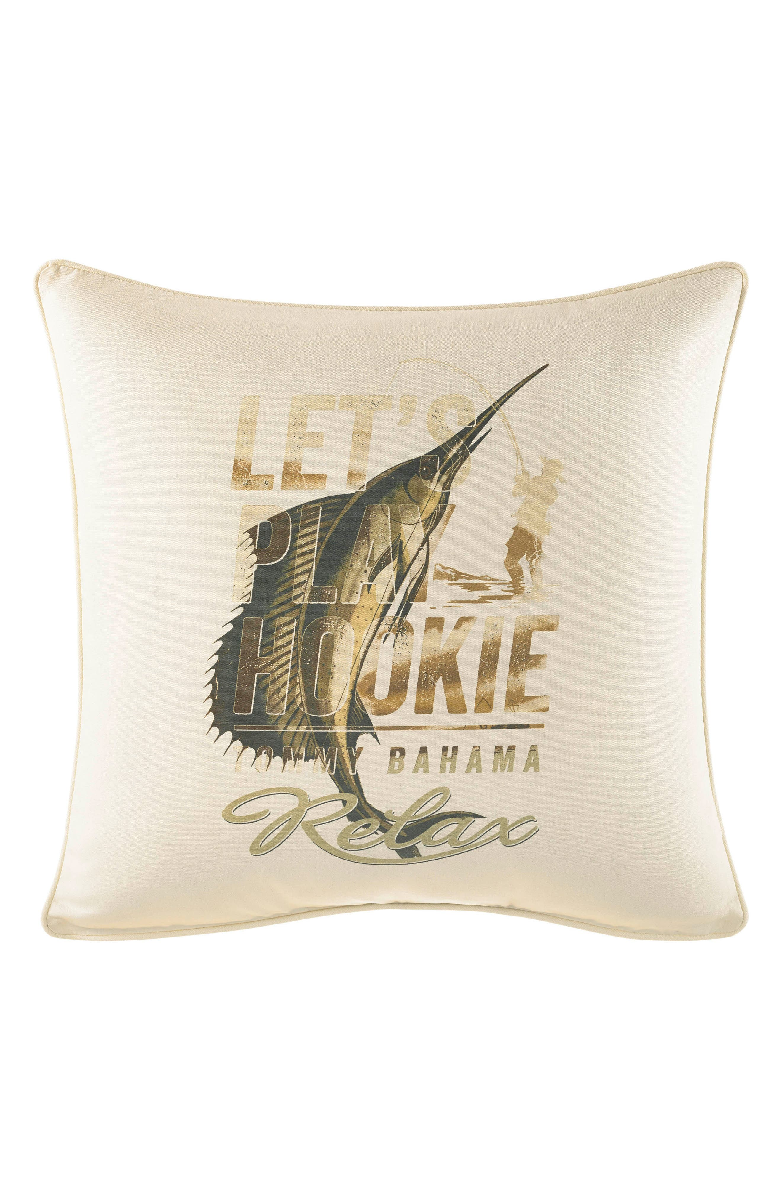 Let's Play Hookie Pillow,                         Main,                         color, Neutral