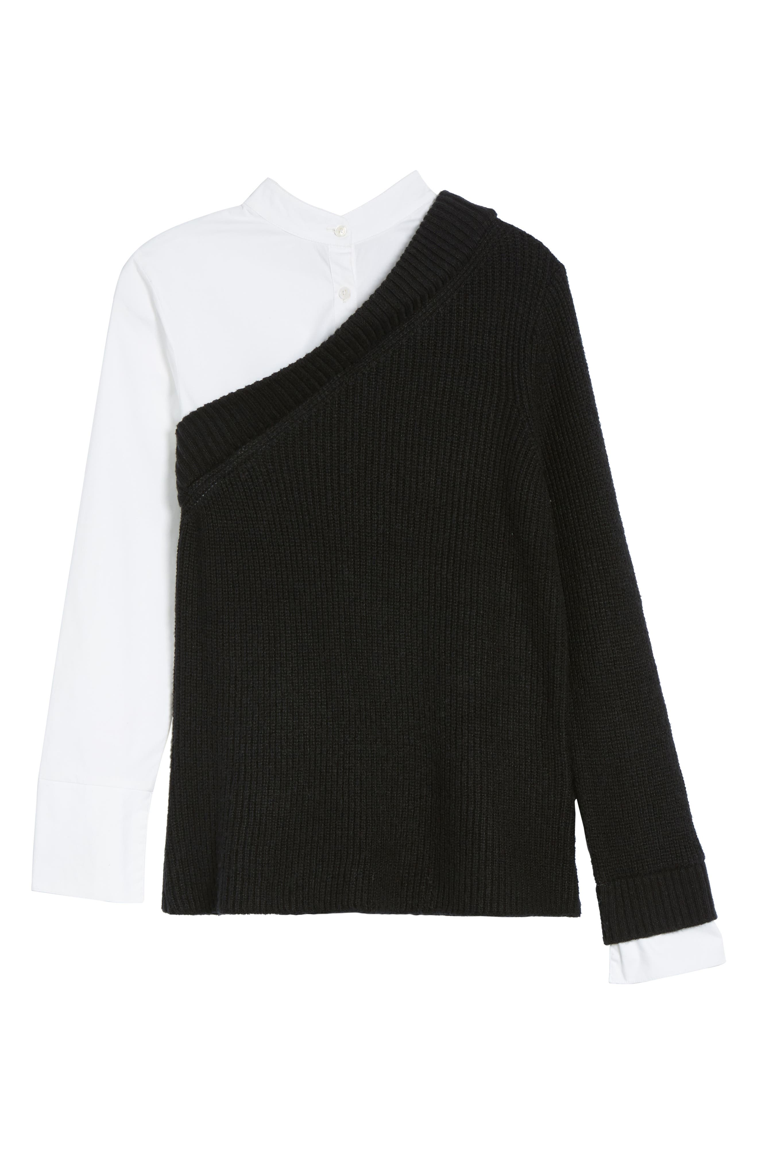 Alternate Image 3  - Vince Camuto Mix Media Layered Sweater