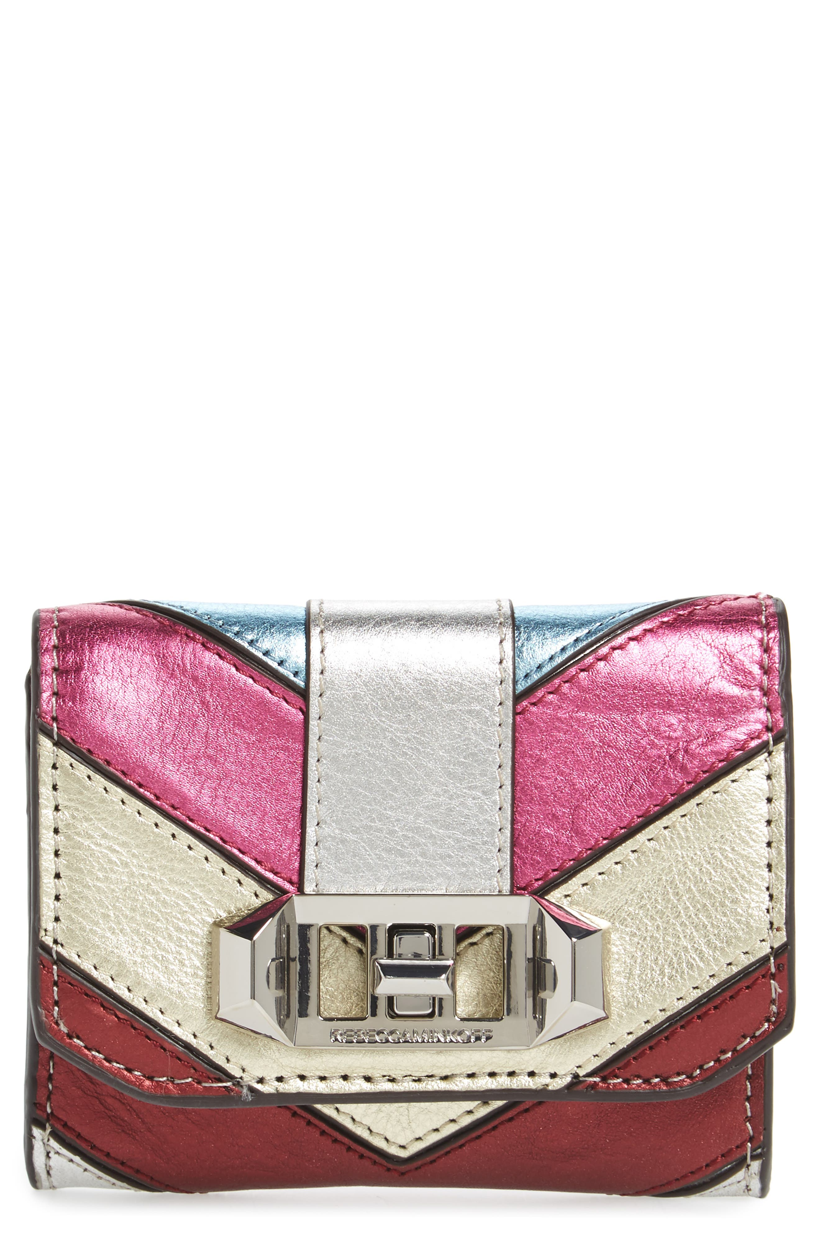 Love Lock Leather Wallet,                         Main,                         color, Multi
