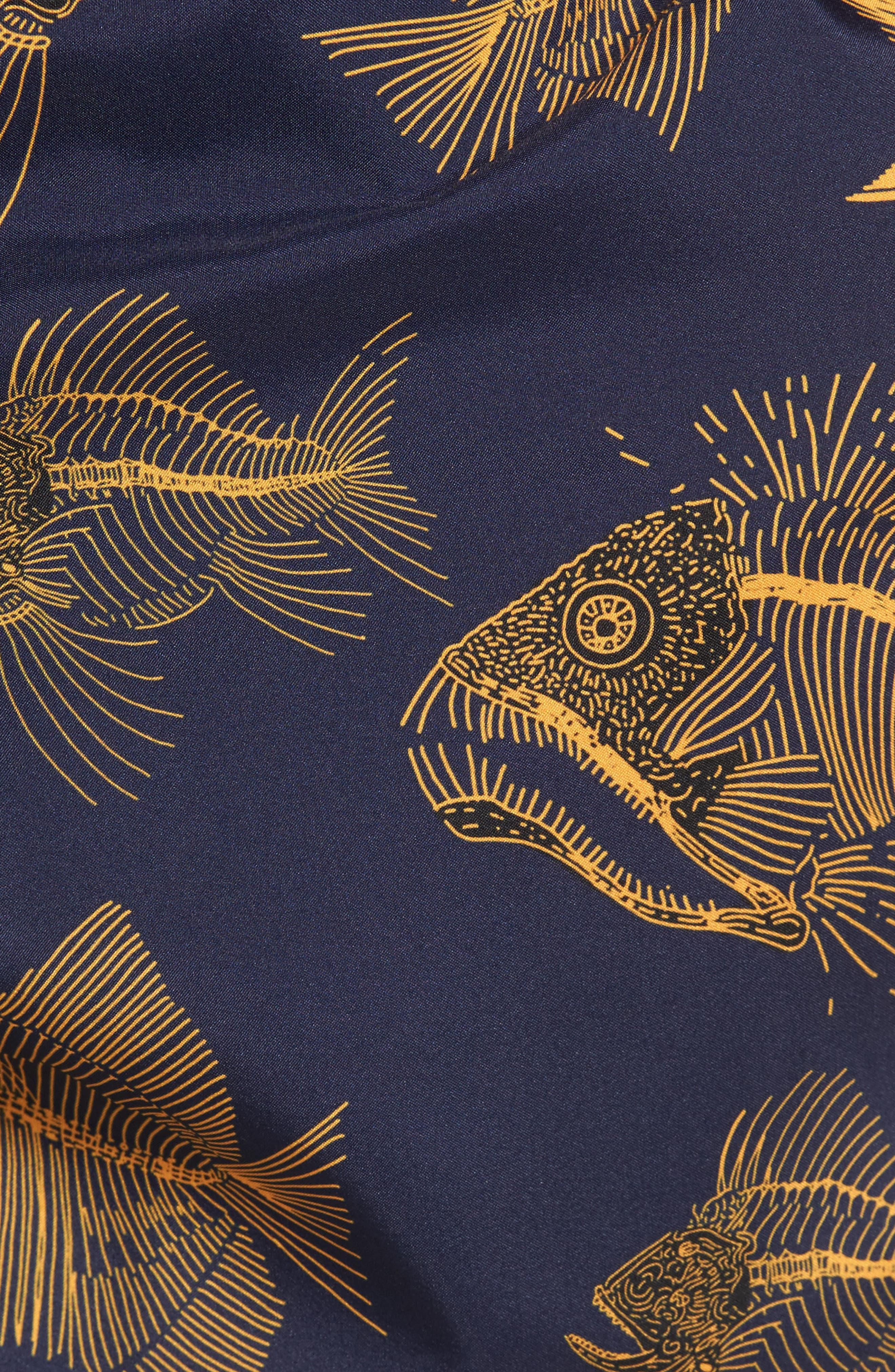 Prehistoric Fish Swim Trunks,                             Alternate thumbnail 5, color,                             Navy