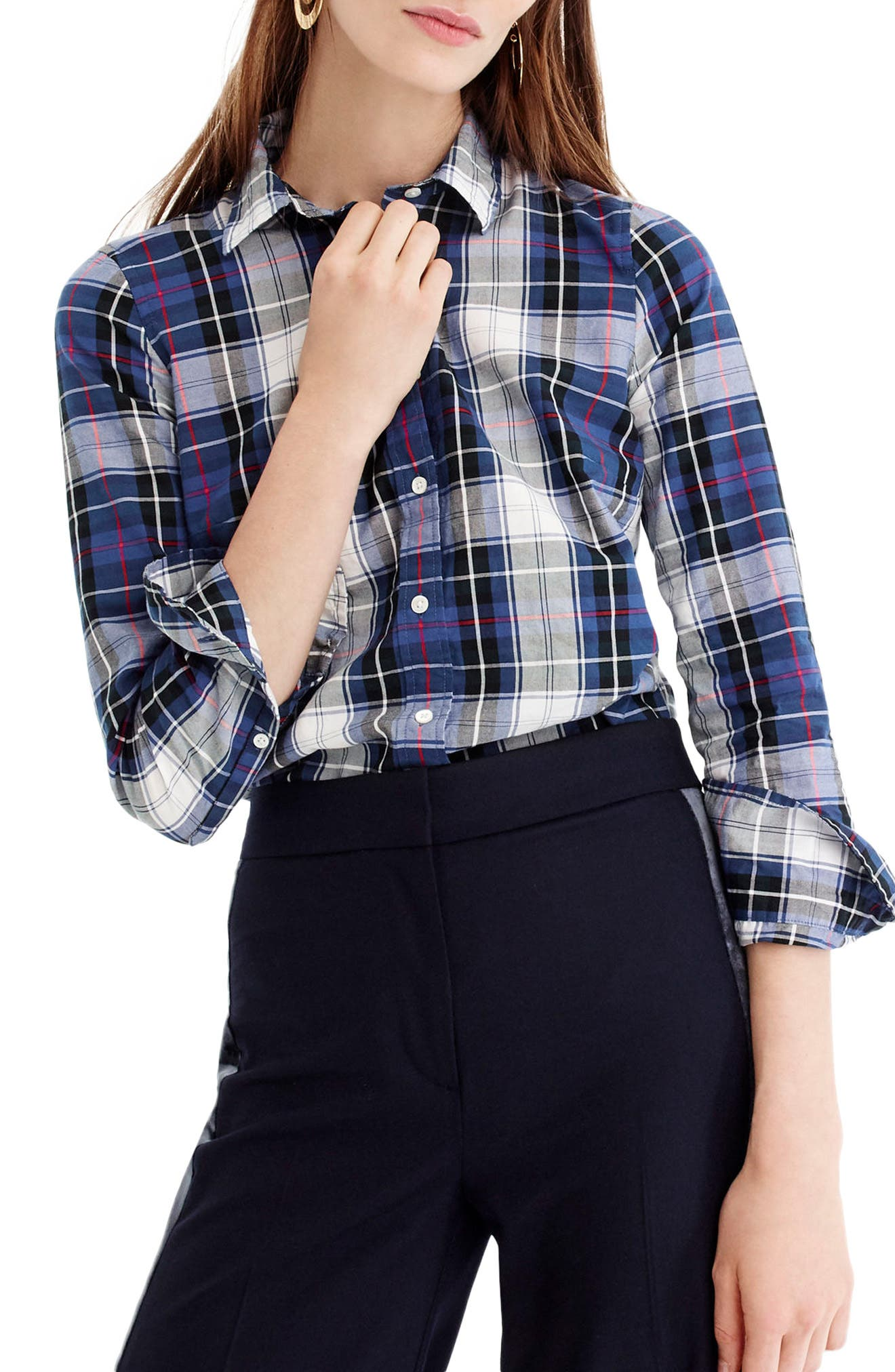 J.Crew Perfect Plaid Shirt (Regular & Petite)