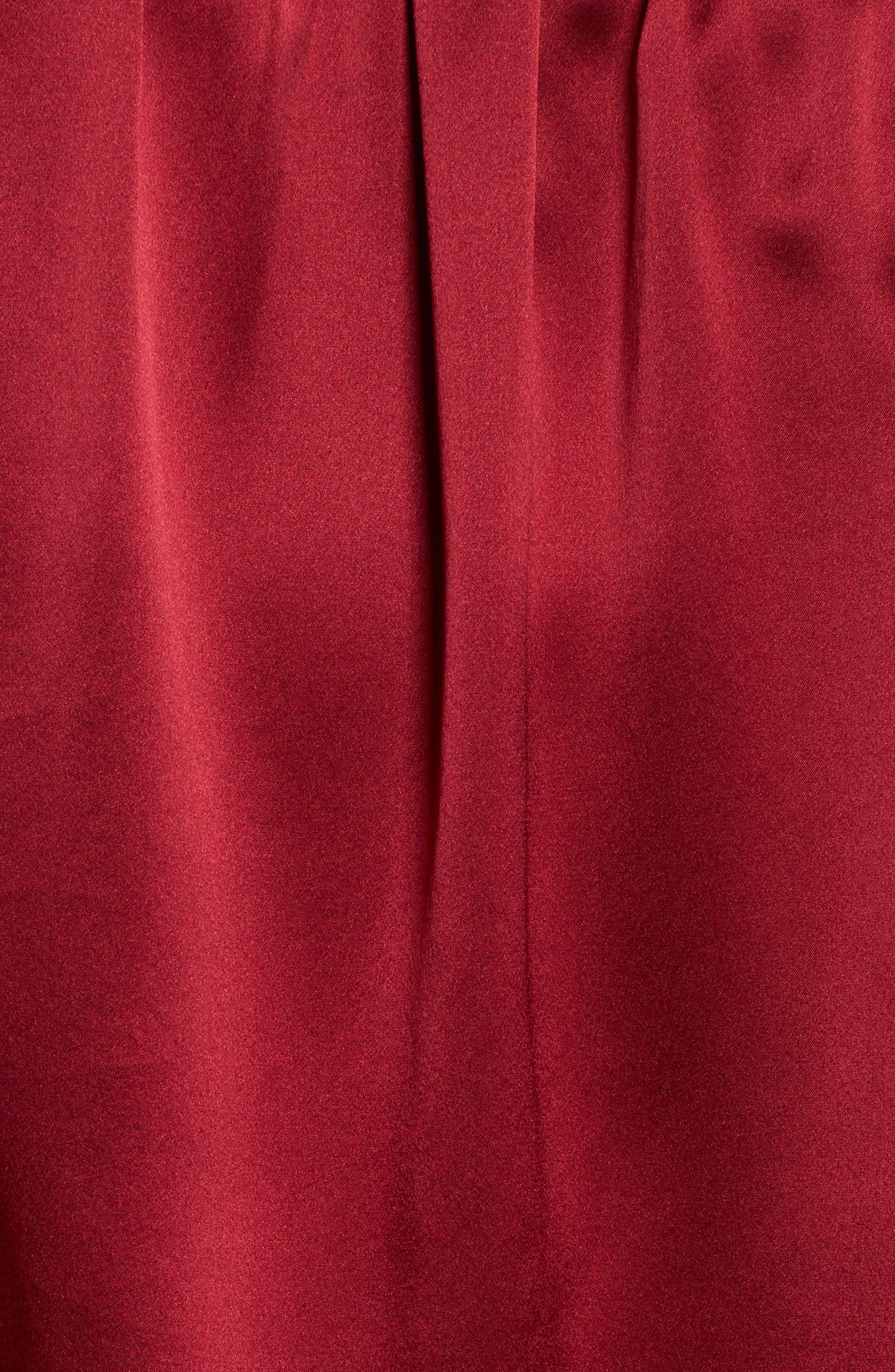 Silk Off the Shoulder Blouse,                             Alternate thumbnail 5, color,                             Adriatic