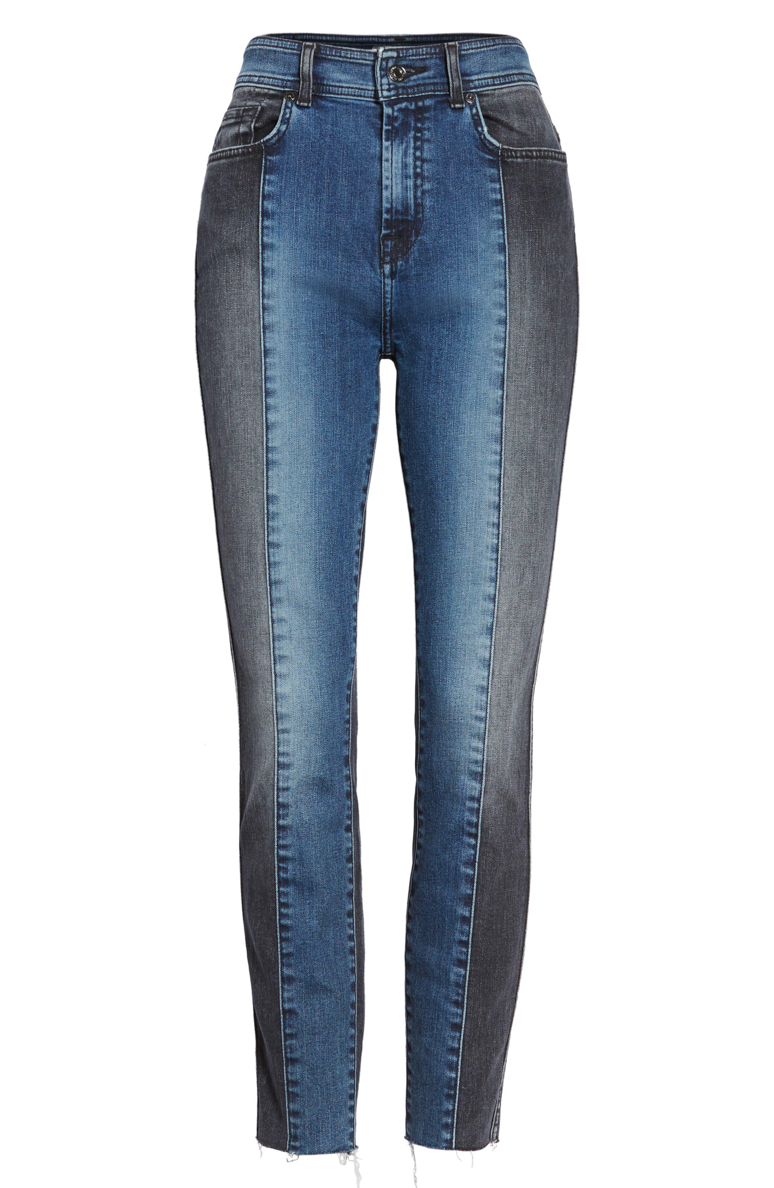 The Ankle Skinny Jeans,                             Alternate thumbnail 6, color,                             Indigo Sulphur