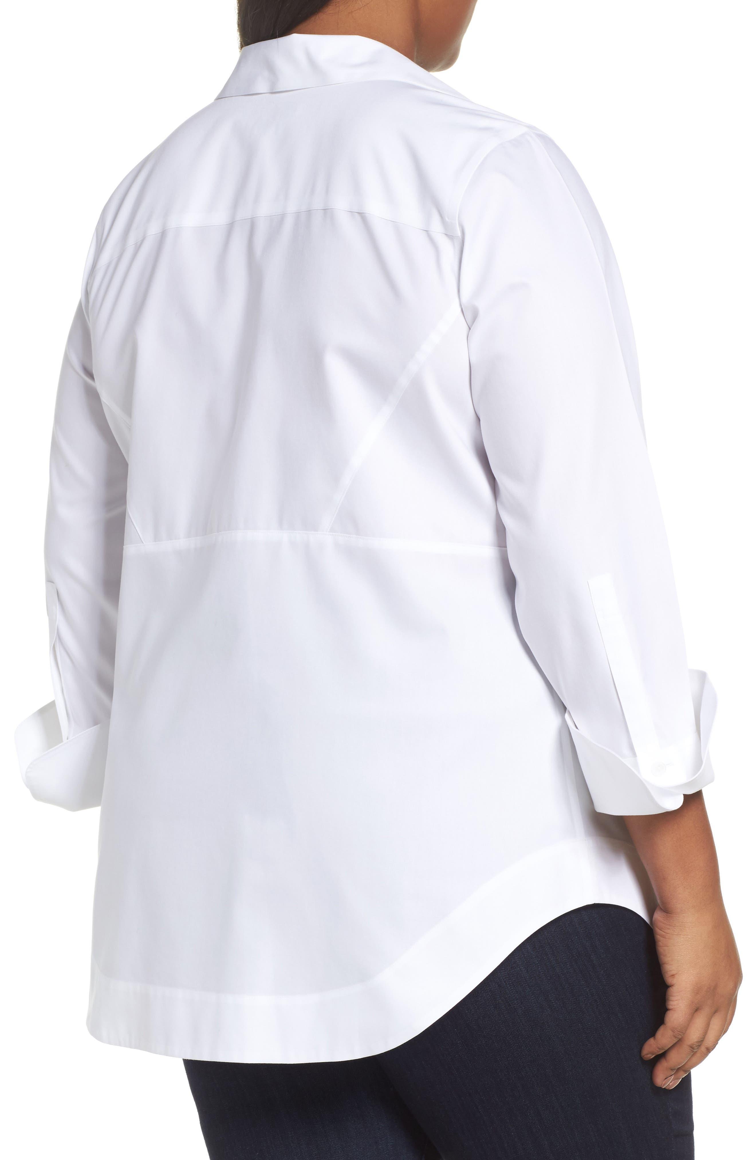 Alternate Image 2  - Foxcroft Patrice Solid Shirt (Plus Size)