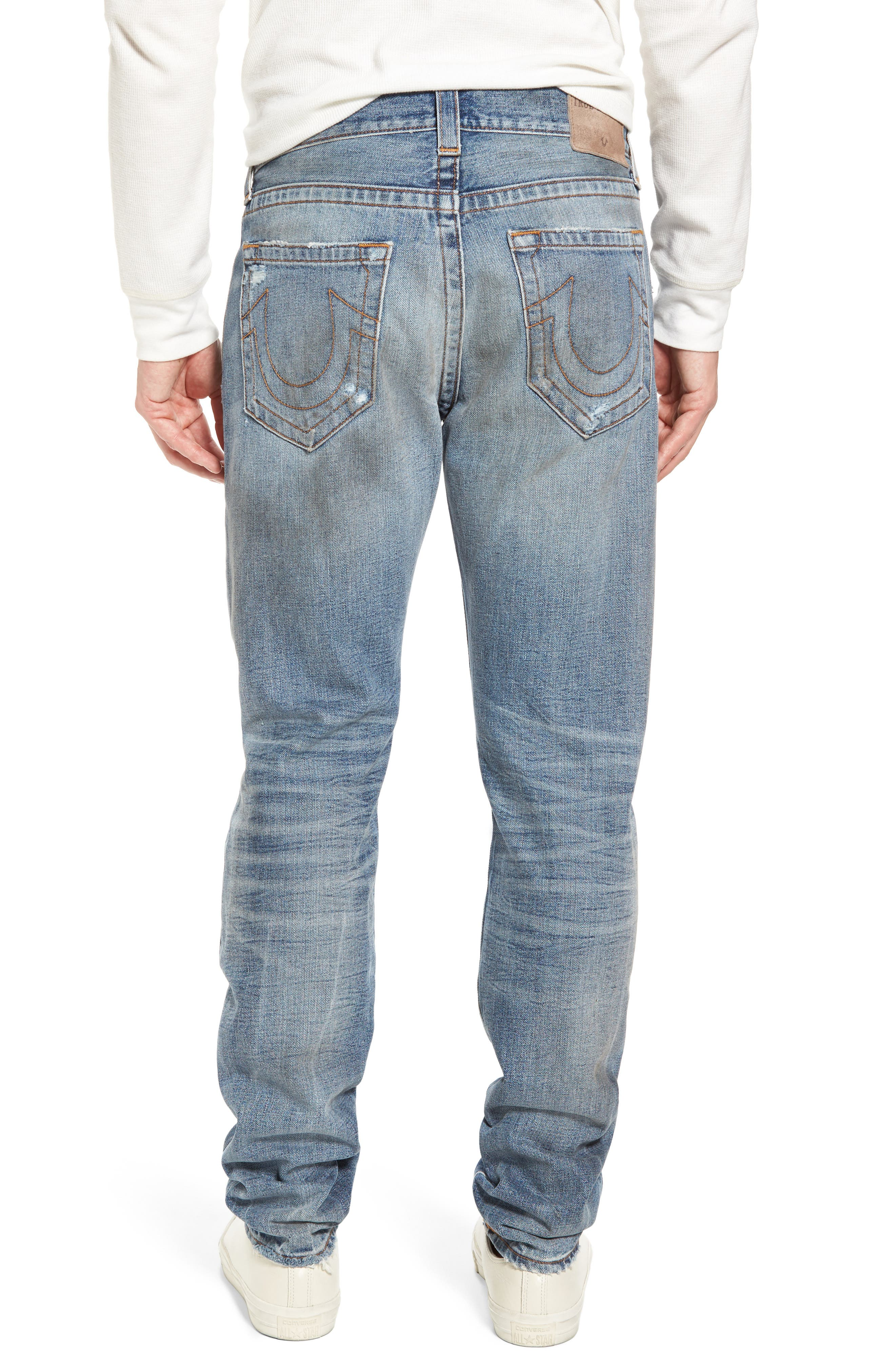 Alternate Image 2  - True Religion Brand Jeans Logan Slim Straight Fit Jeans (Mended Street Brawl)