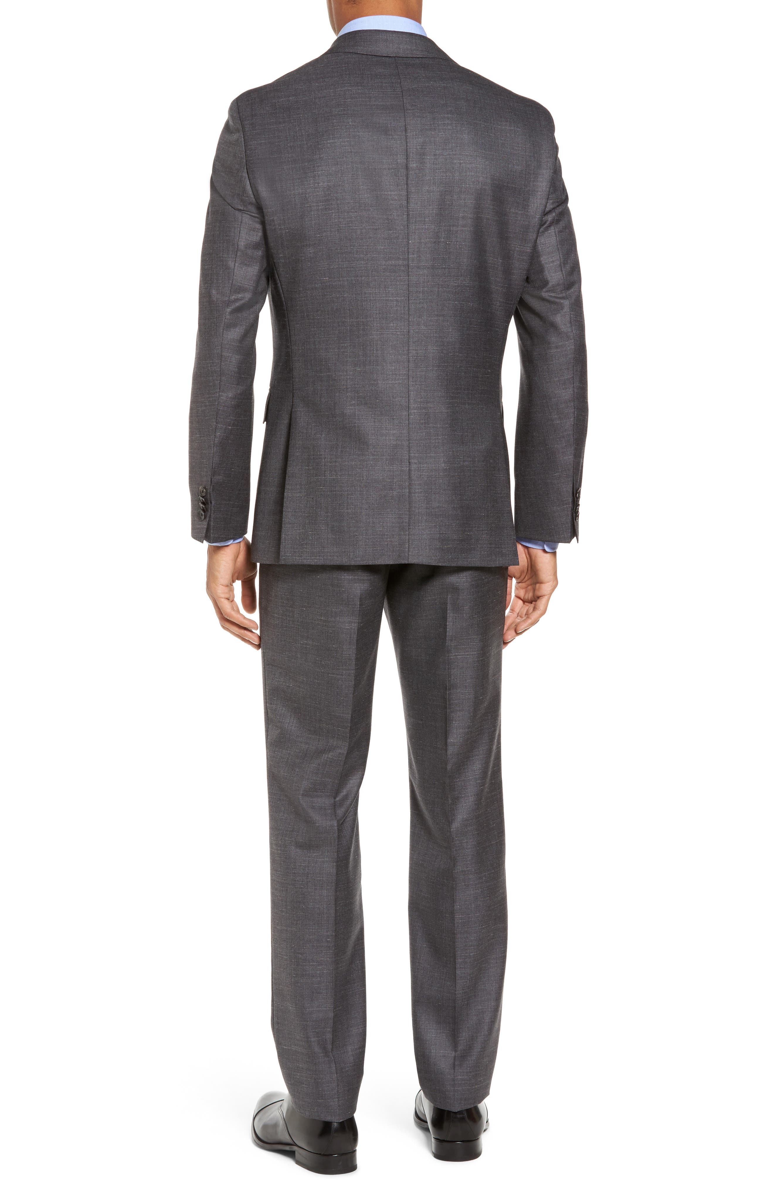 Johnstons/Lenon Classic Fit Solid Wool Blend Suit,                             Alternate thumbnail 2, color,                             Open Grey