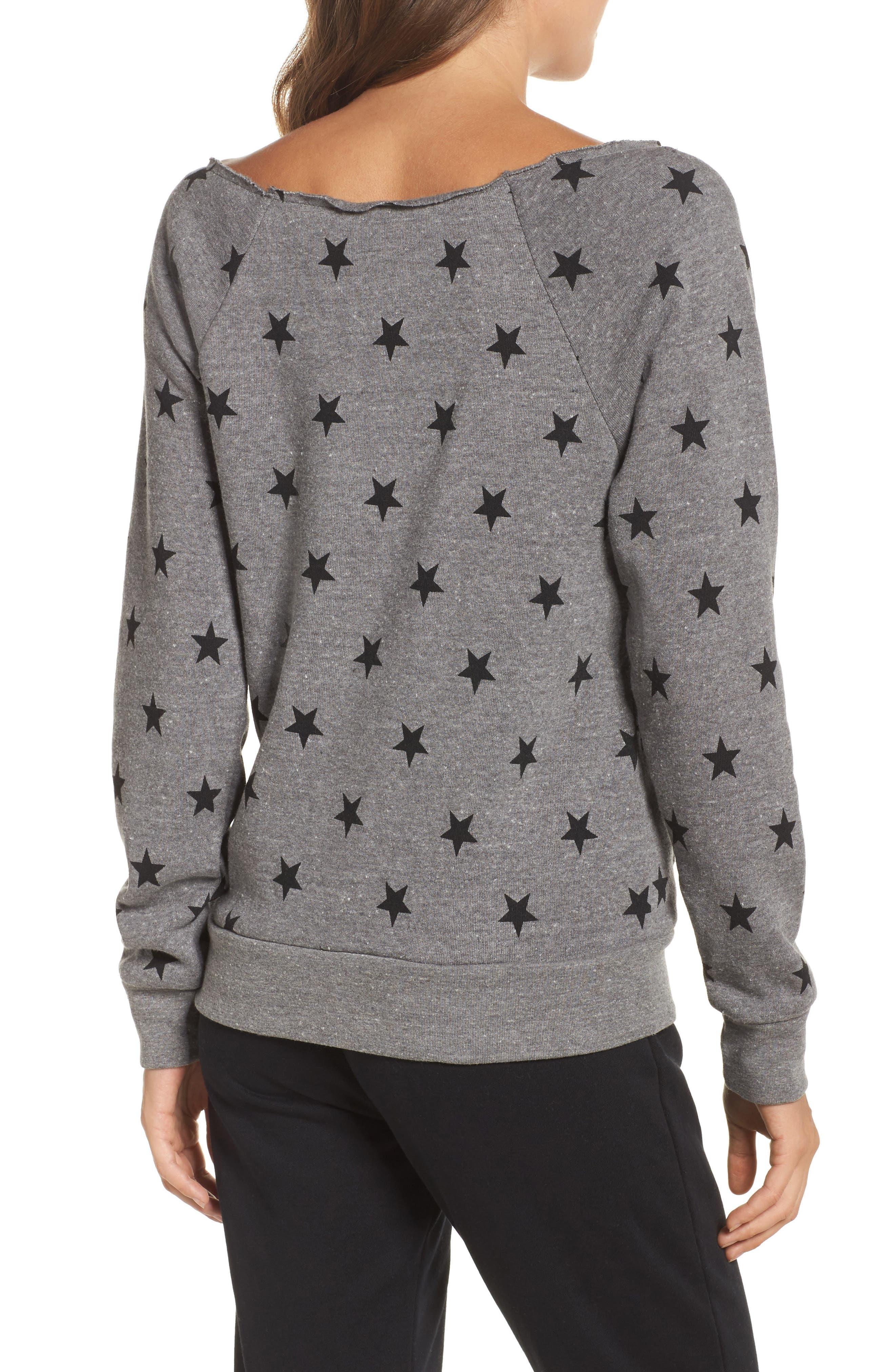 Maniac Camo Fleece Sweatshirt,                             Alternate thumbnail 2, color,                             Eco Grey Stars