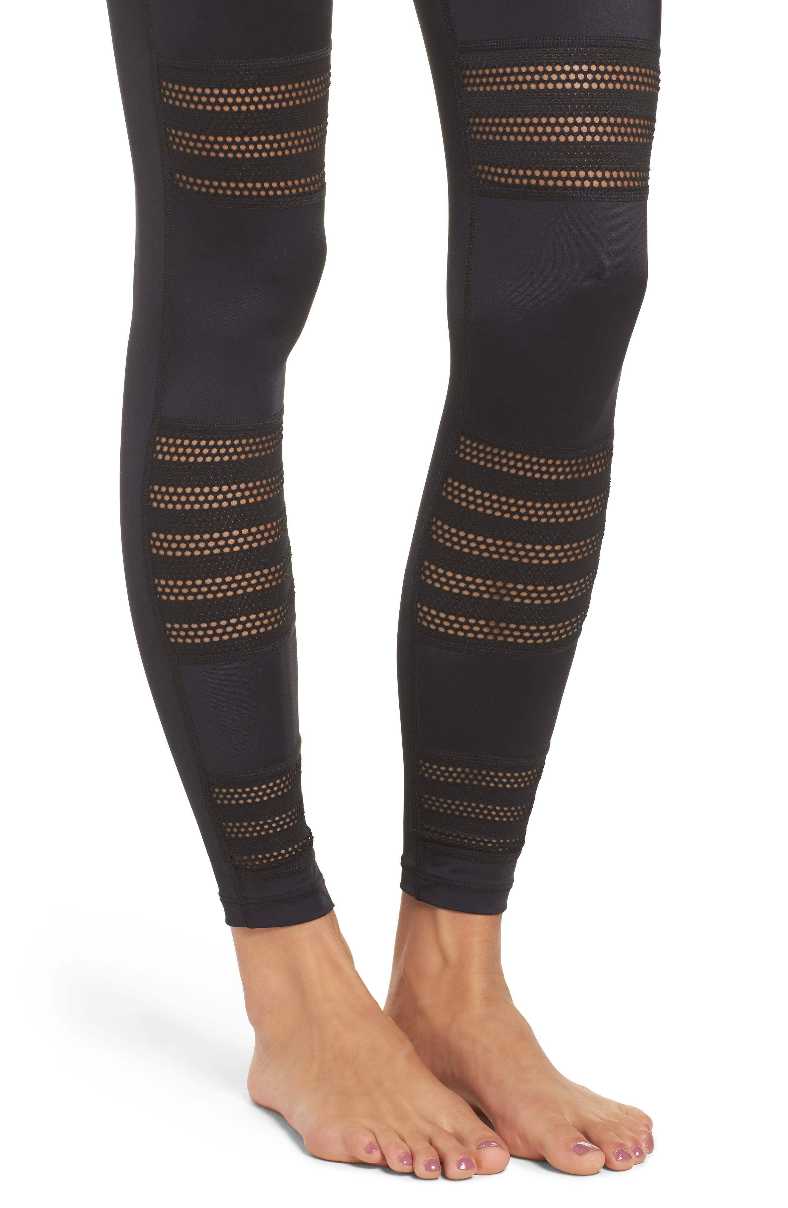 Alternate Image 4  - Beyond Yoga Mesh to Impress High Waist Leggings