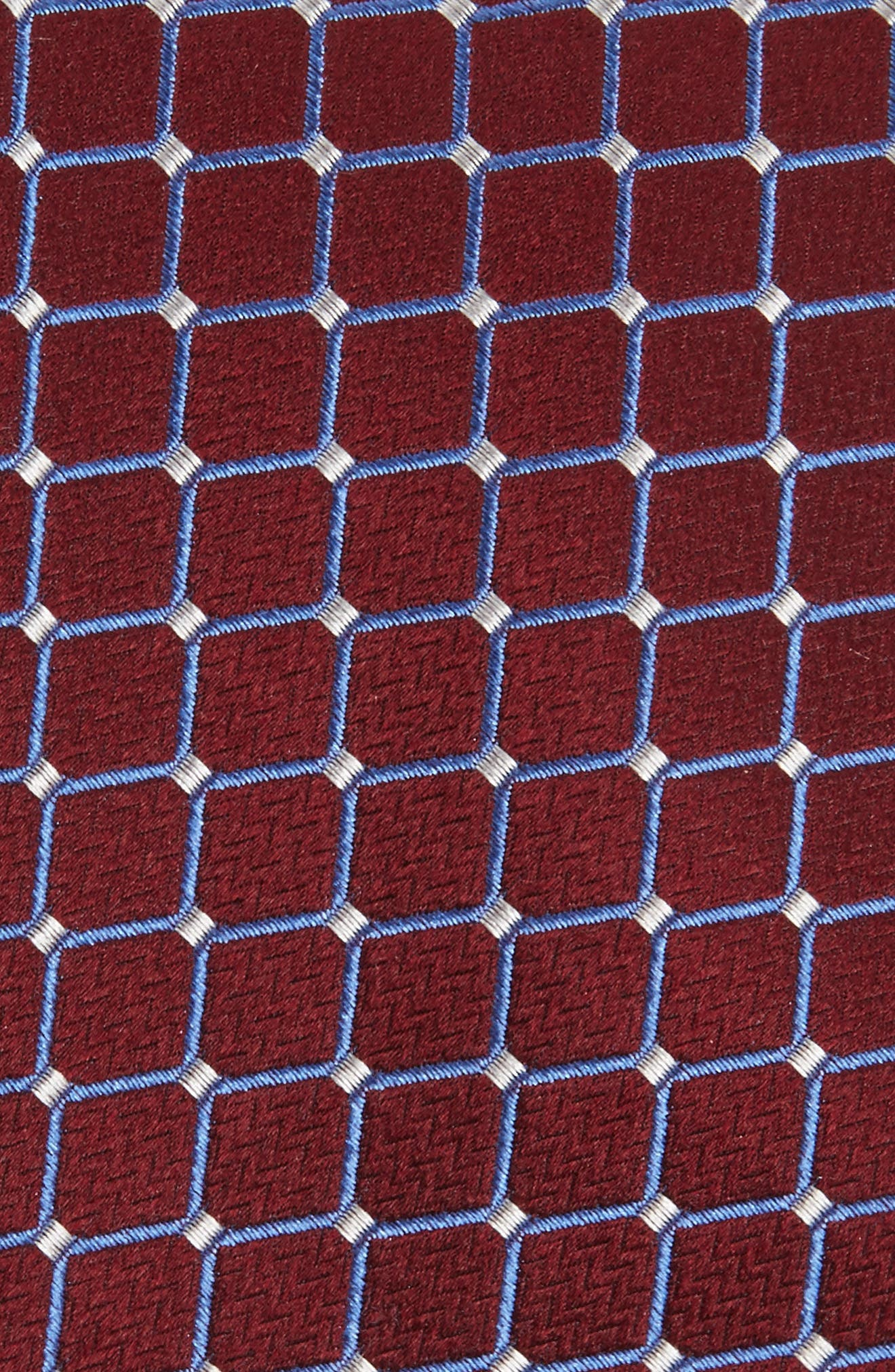 Check Silk Tie,                             Alternate thumbnail 2, color,                             Burgundy