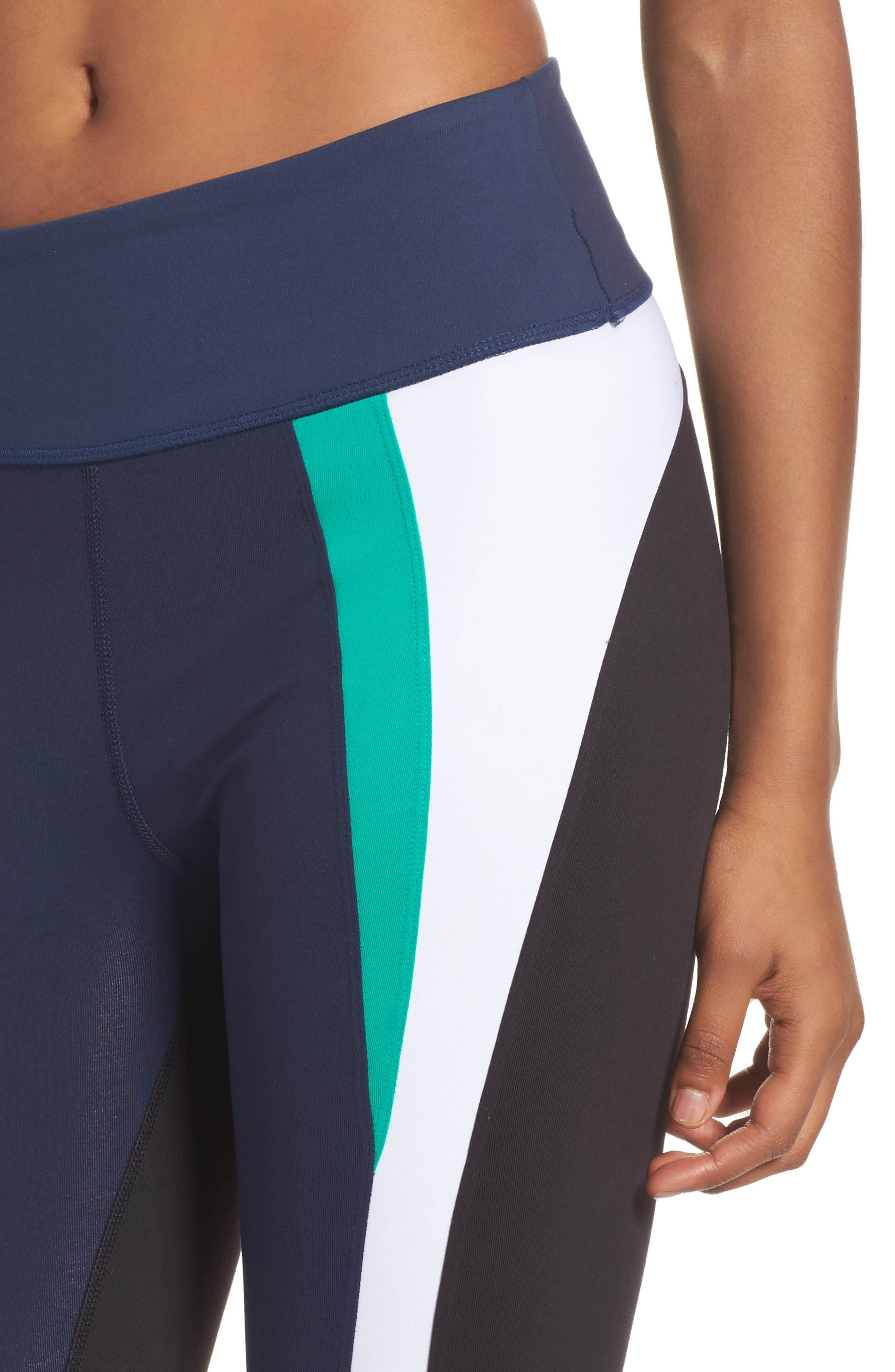 Force Ankle Tights,                             Alternate thumbnail 4, color,                             Navy/ Kelly/ White/ Black