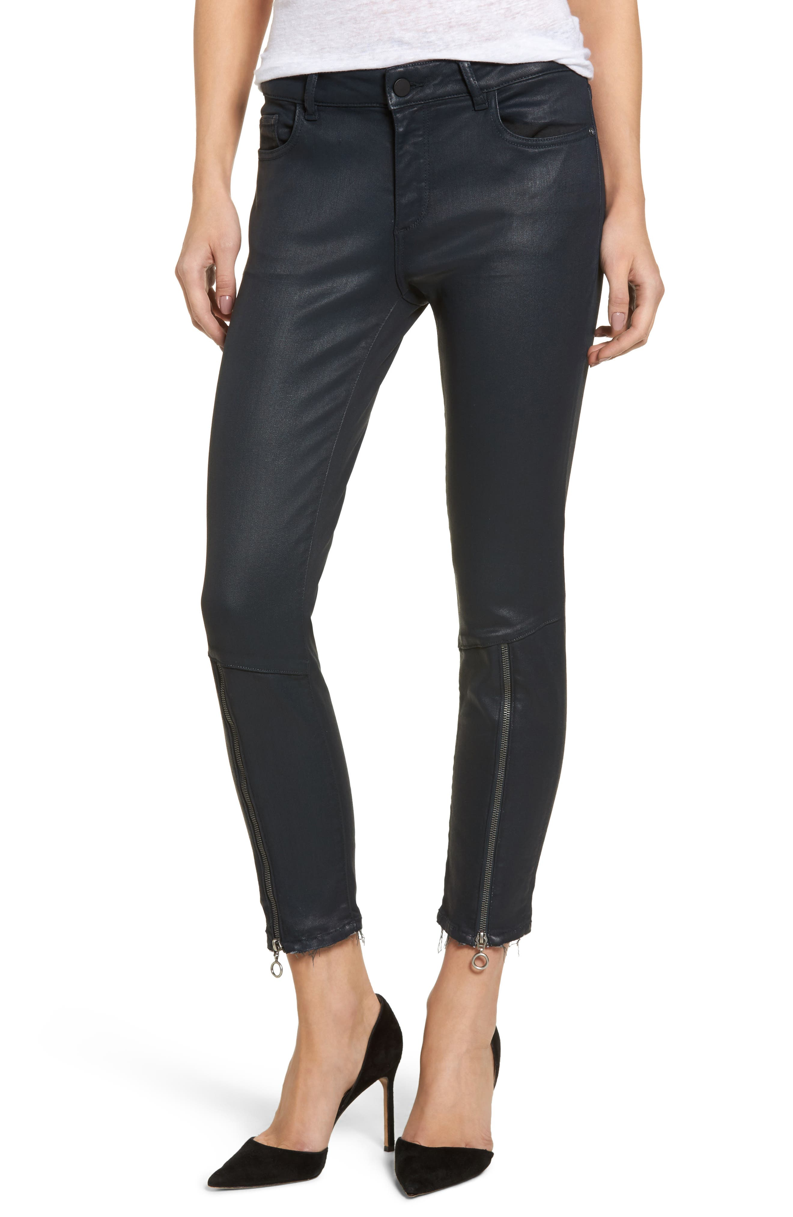 DL1961 Florence Instasculpt Crop Skinny Jeans (Deep Emerald)