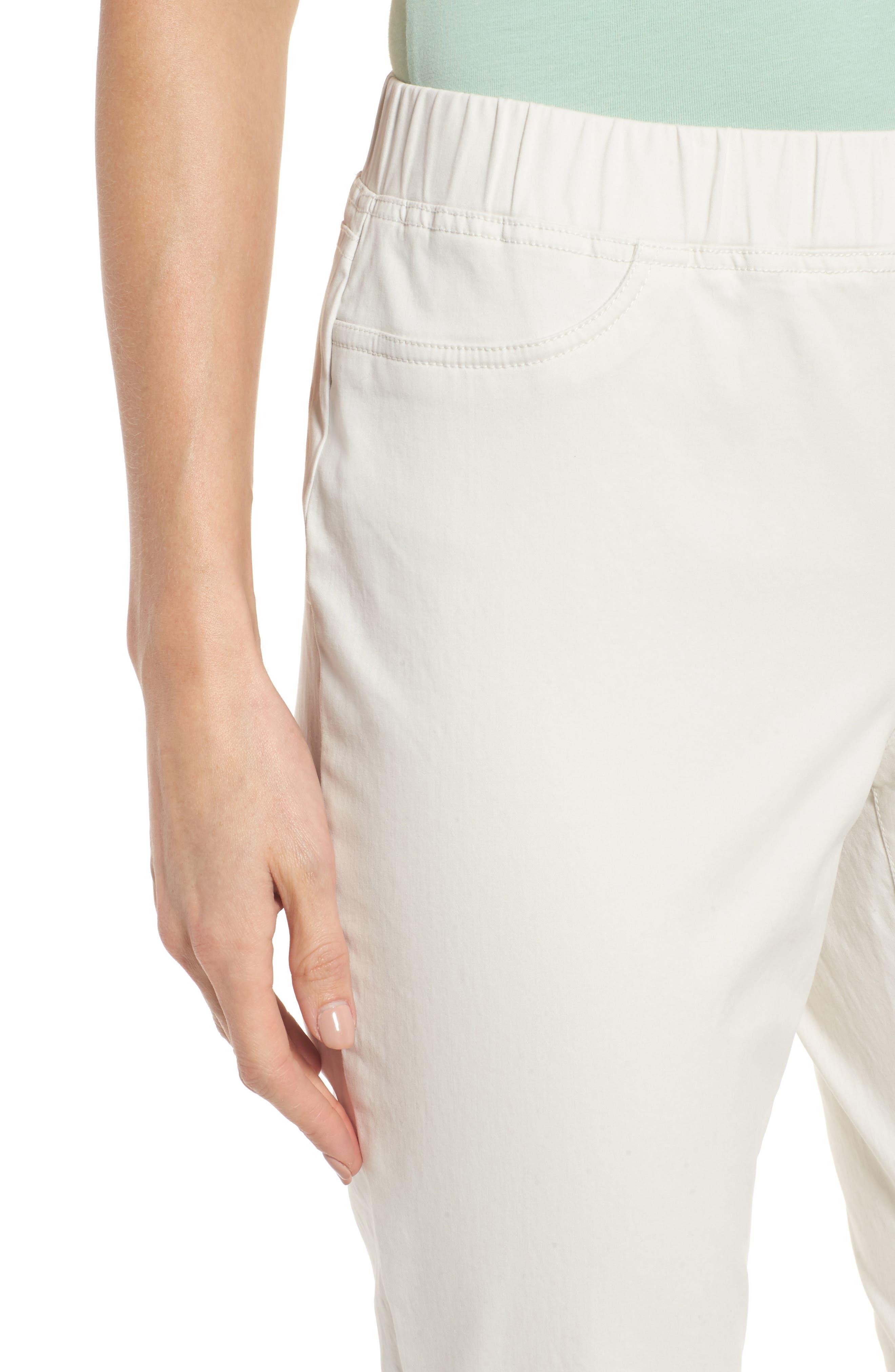 Stretch Organic Cotton Denim Skinny Pants,                             Alternate thumbnail 4, color,                             Bone