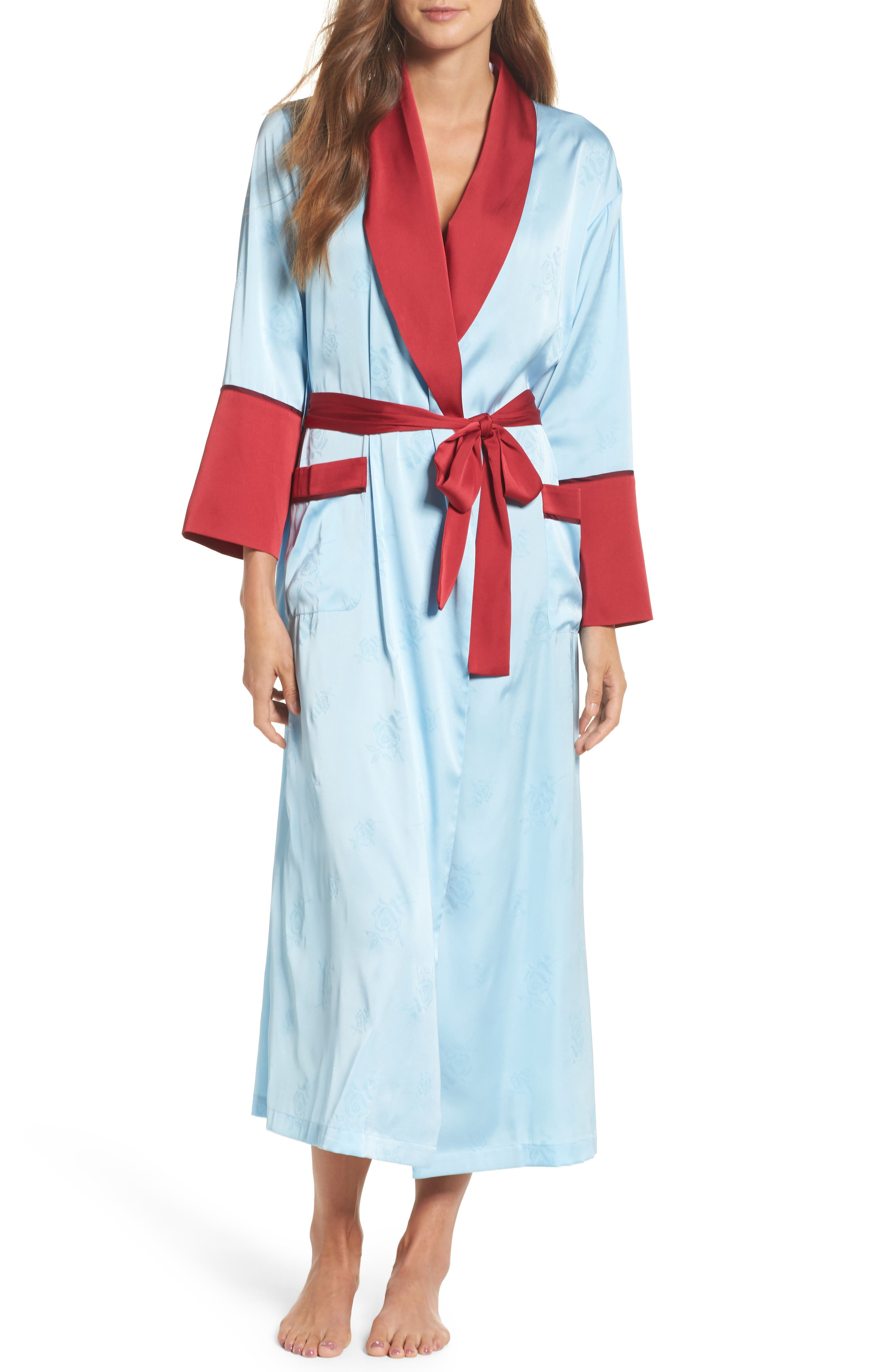 Robe,                             Main thumbnail 1, color,                             Light Blue