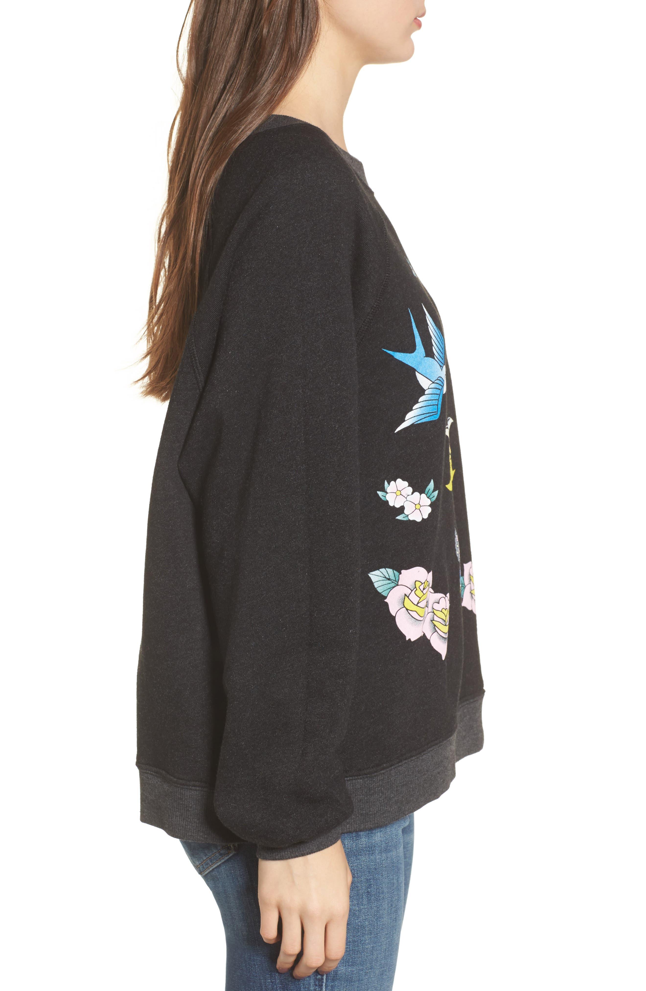Alternate Image 3  - Wildfox Flash Sweatshirt