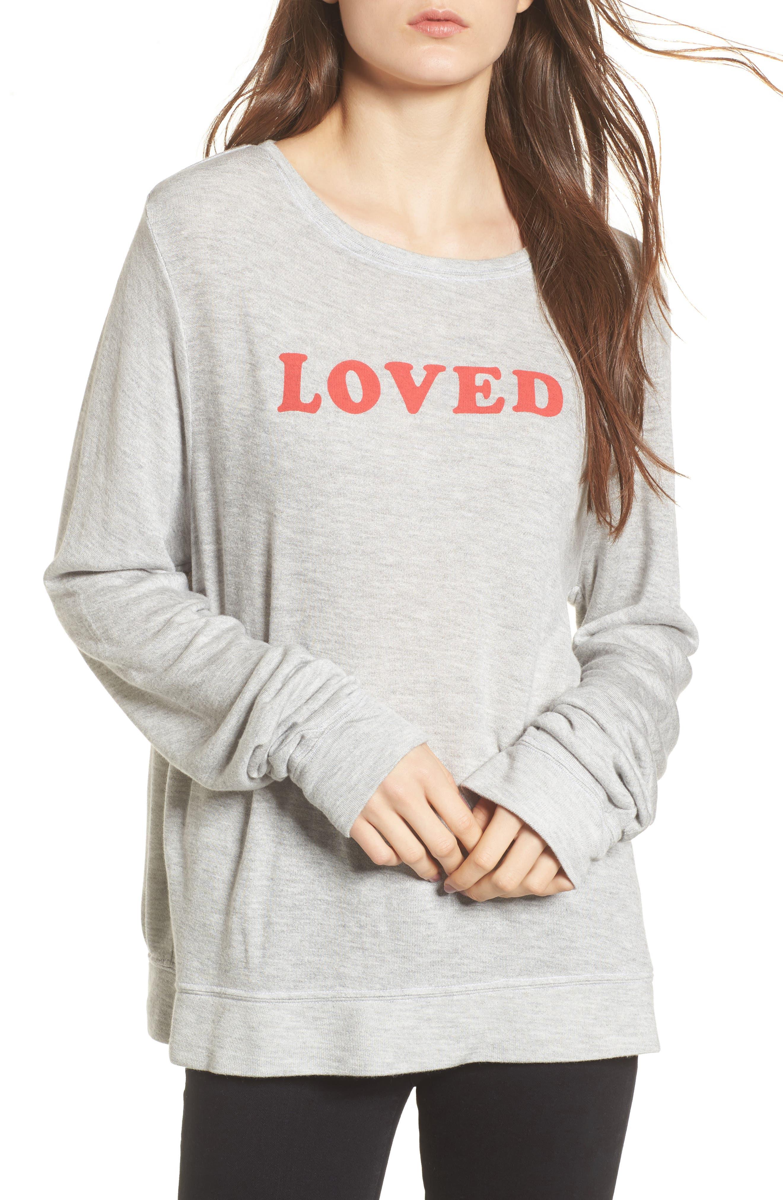 Alternate Image 1 Selected - Wildfox Loved Sweatshirt