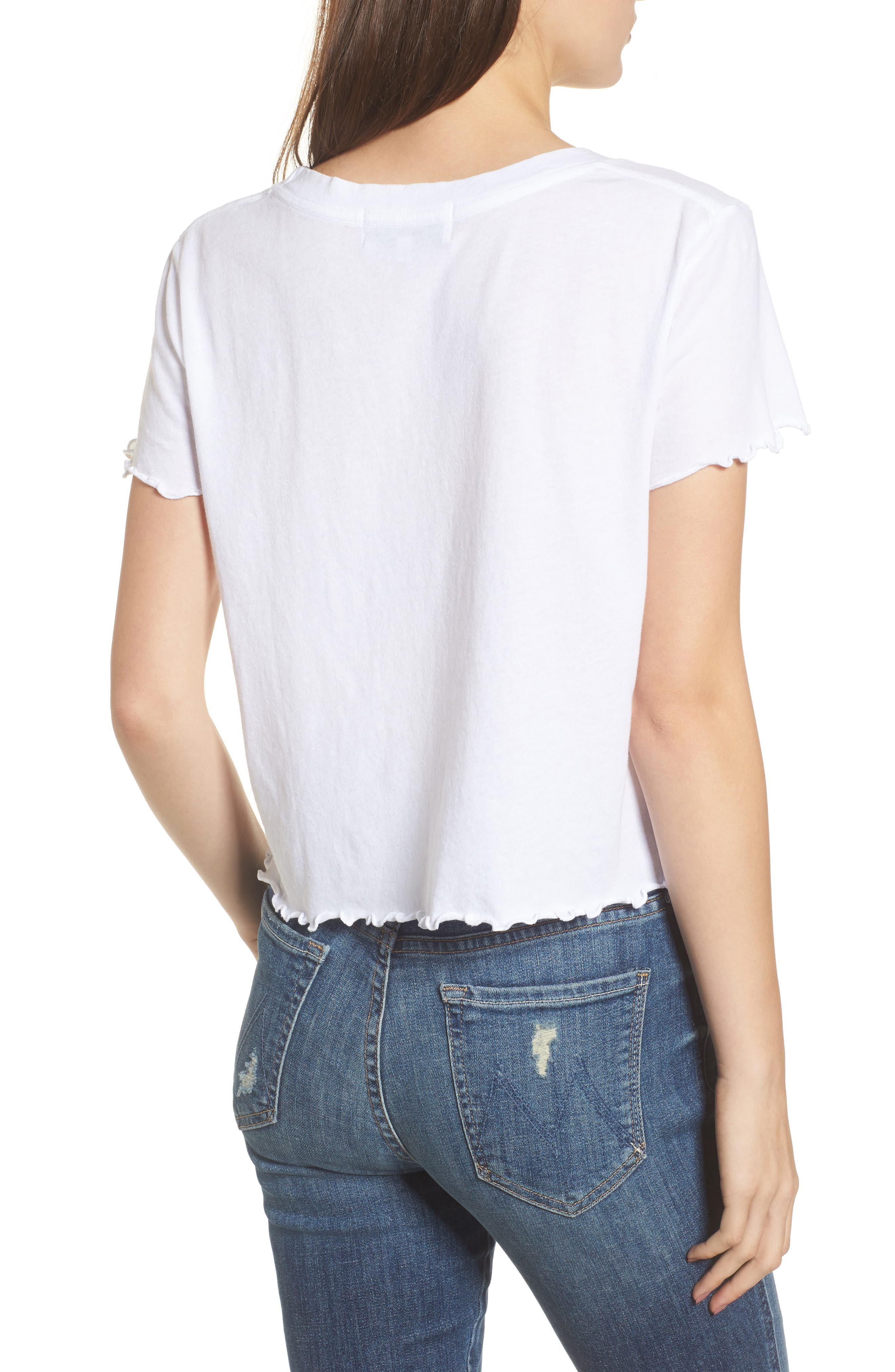 Alternate Image 2  - Wildfox Rise & Shine Frilled Tee
