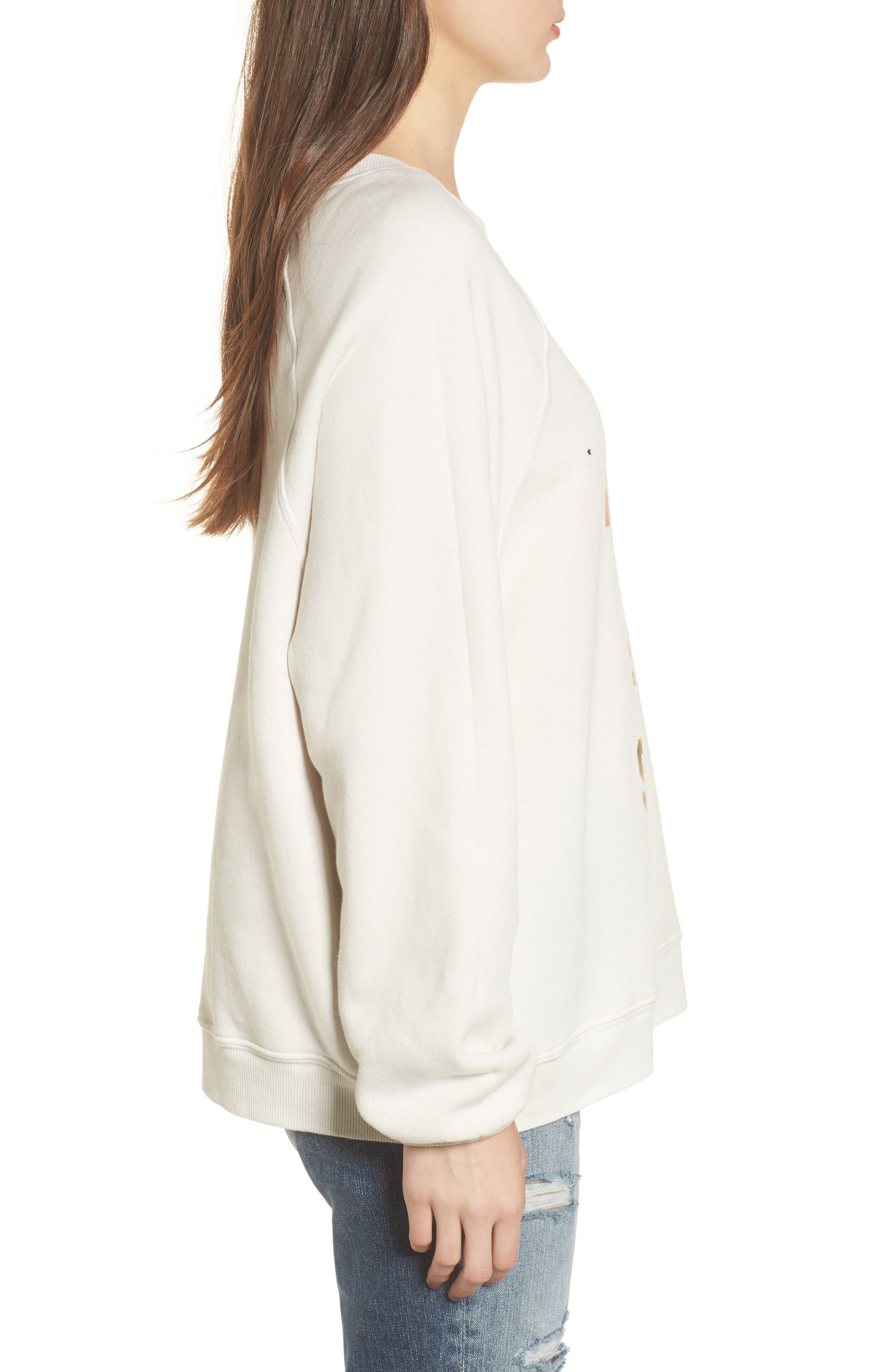 Alternate Image 3  - Wildfox Less Is a Snore Sweatshirt