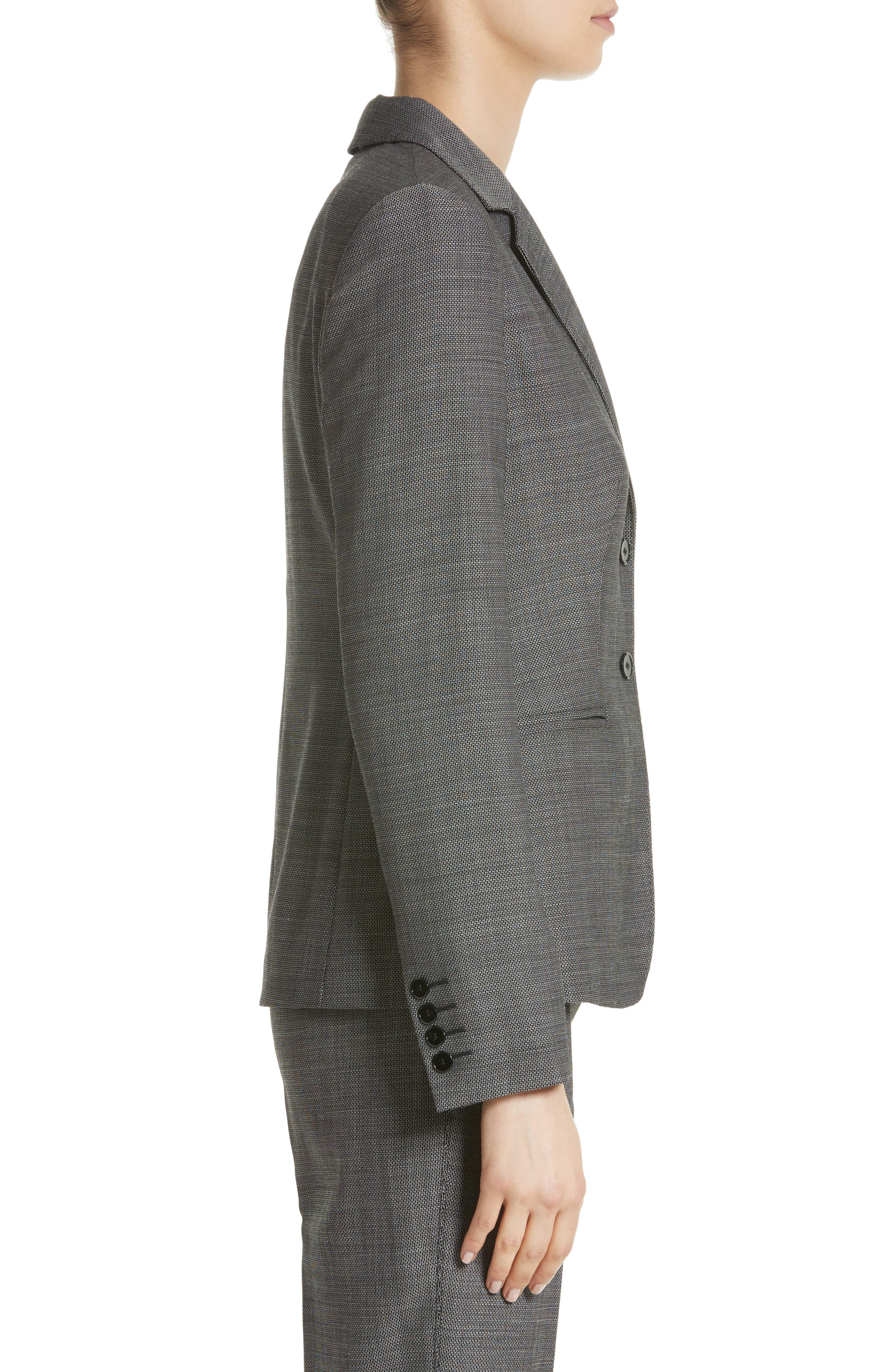 Zac Stretch Wool Blazer,                             Alternate thumbnail 3, color,                             Black