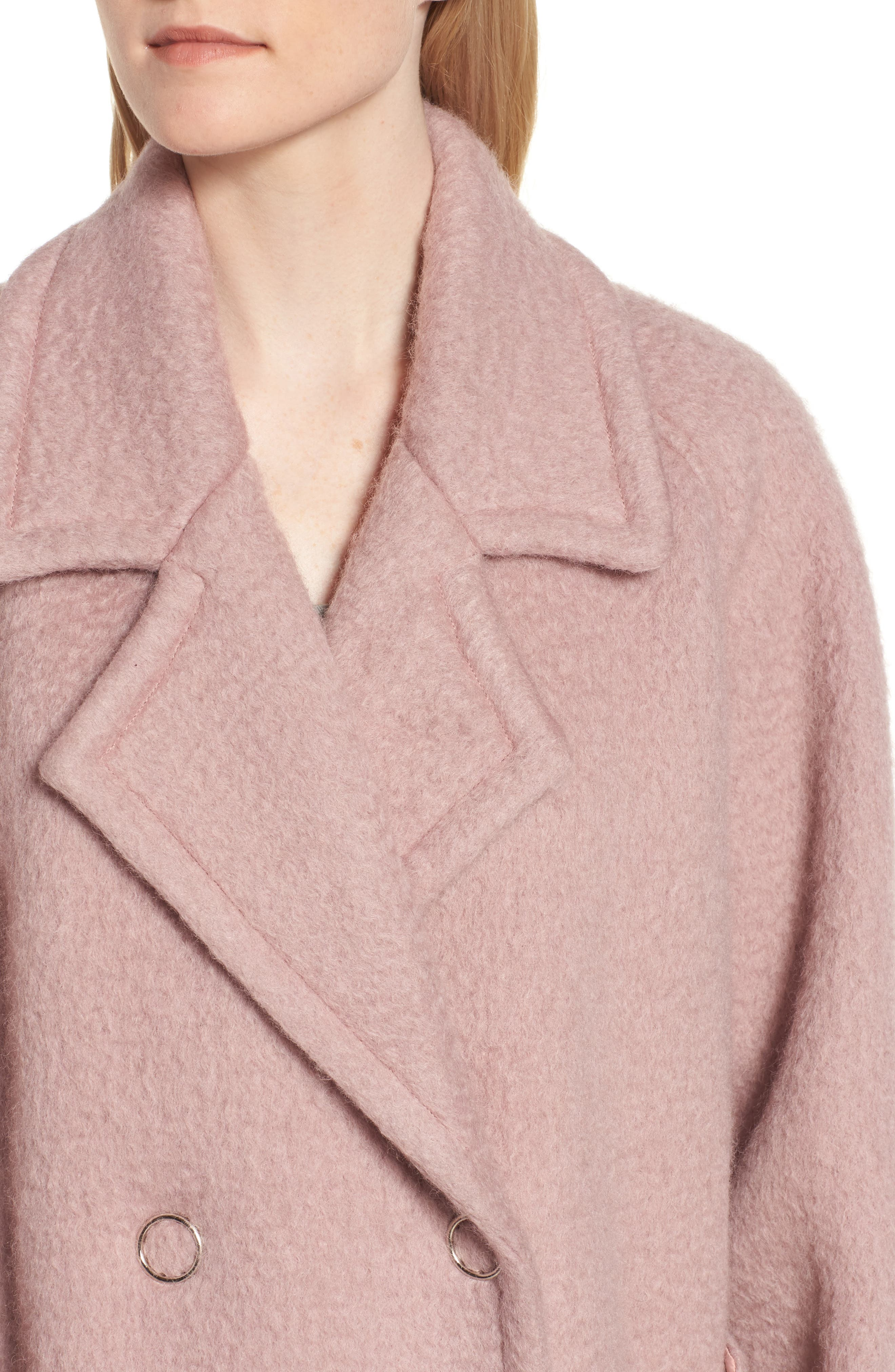 Swing Coat,                             Alternate thumbnail 4, color,                             Light Pink