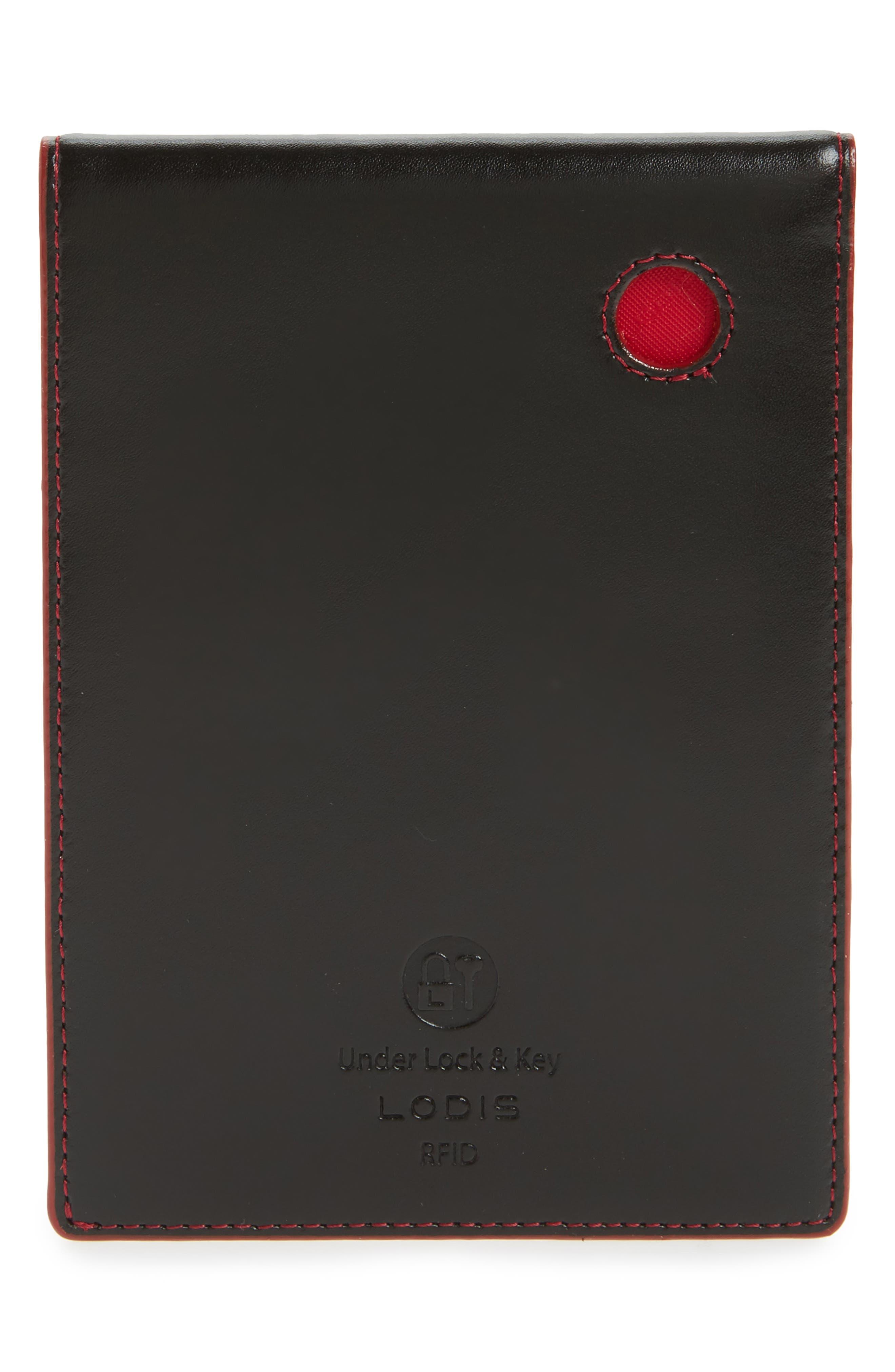 Alternate Image 2  - LODIS Audrey Under Lock & Key Skyler Leather Passport Wallet
