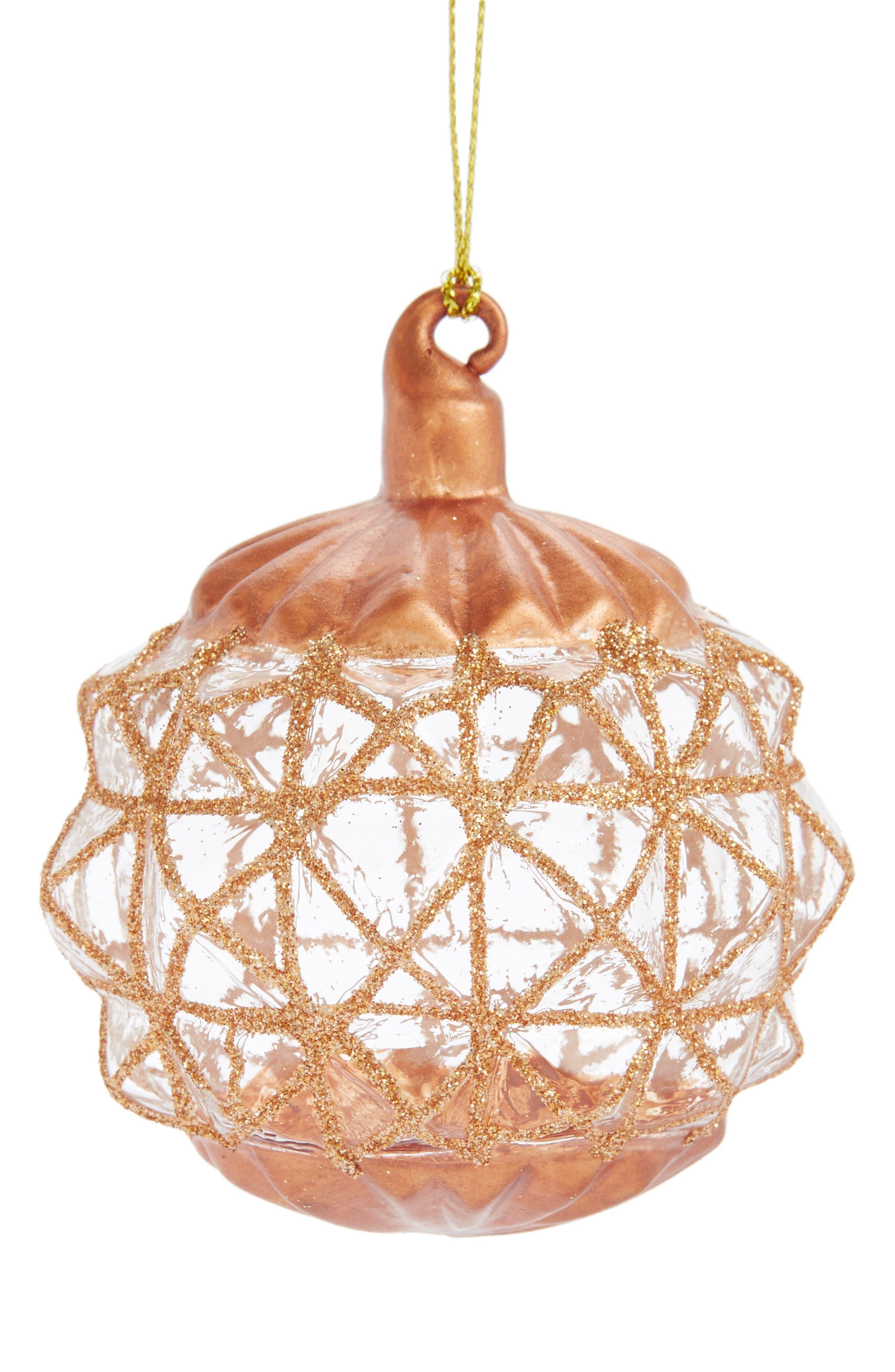 Arty Glitter Glass Ornament