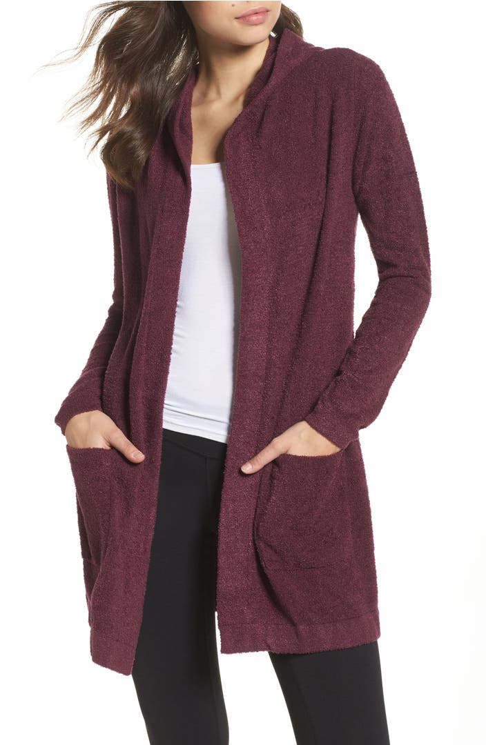 Barefoot Dreams® Cozychic Lite® Coastal Hooded Cardigan ...