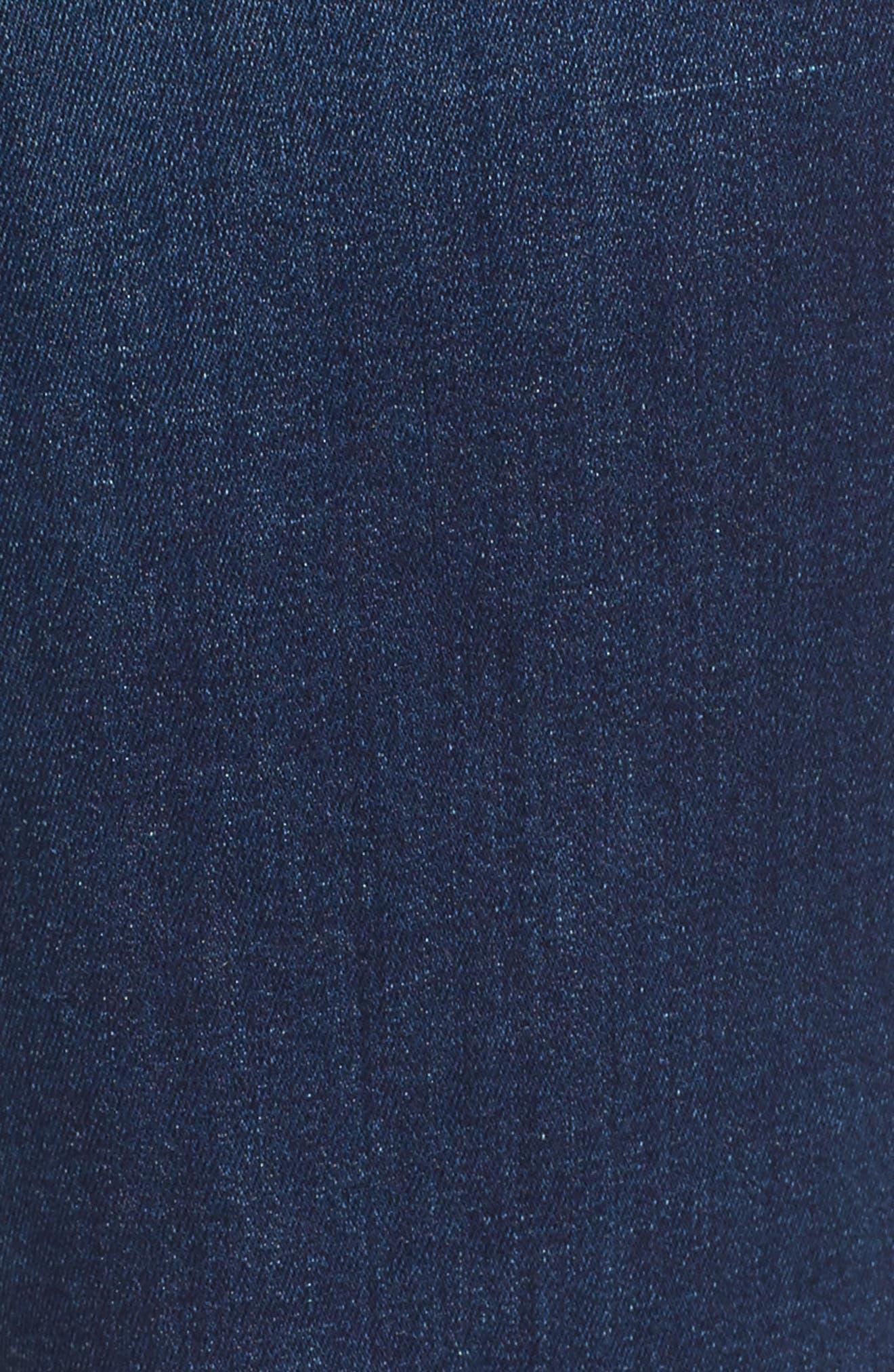 Slim Bootcut Jeans,                             Alternate thumbnail 5, color,                             Riche Touch Medium Blue