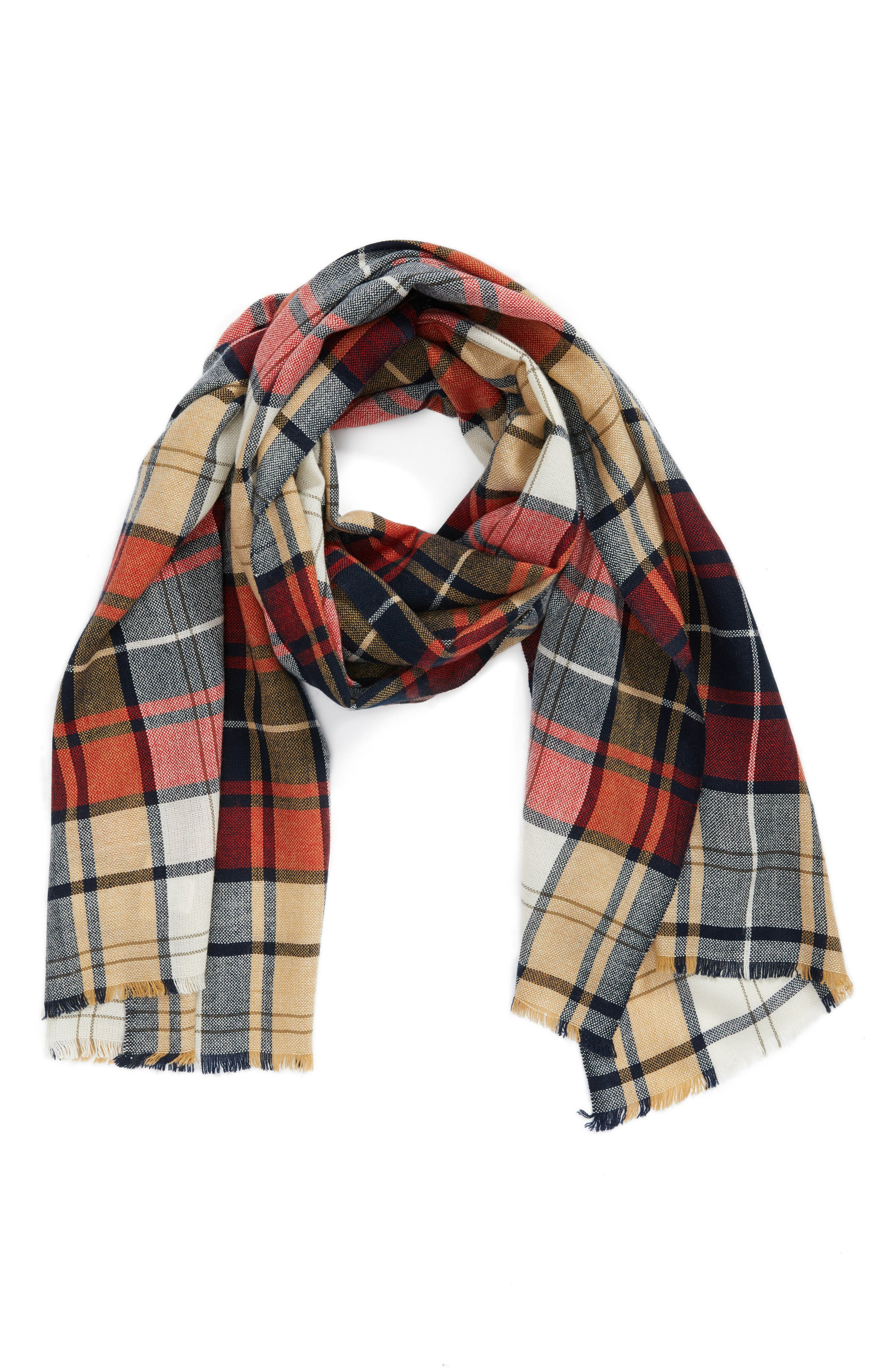 Alternate Image 1 Selected - Sole Society Oversize Plaid Scarf