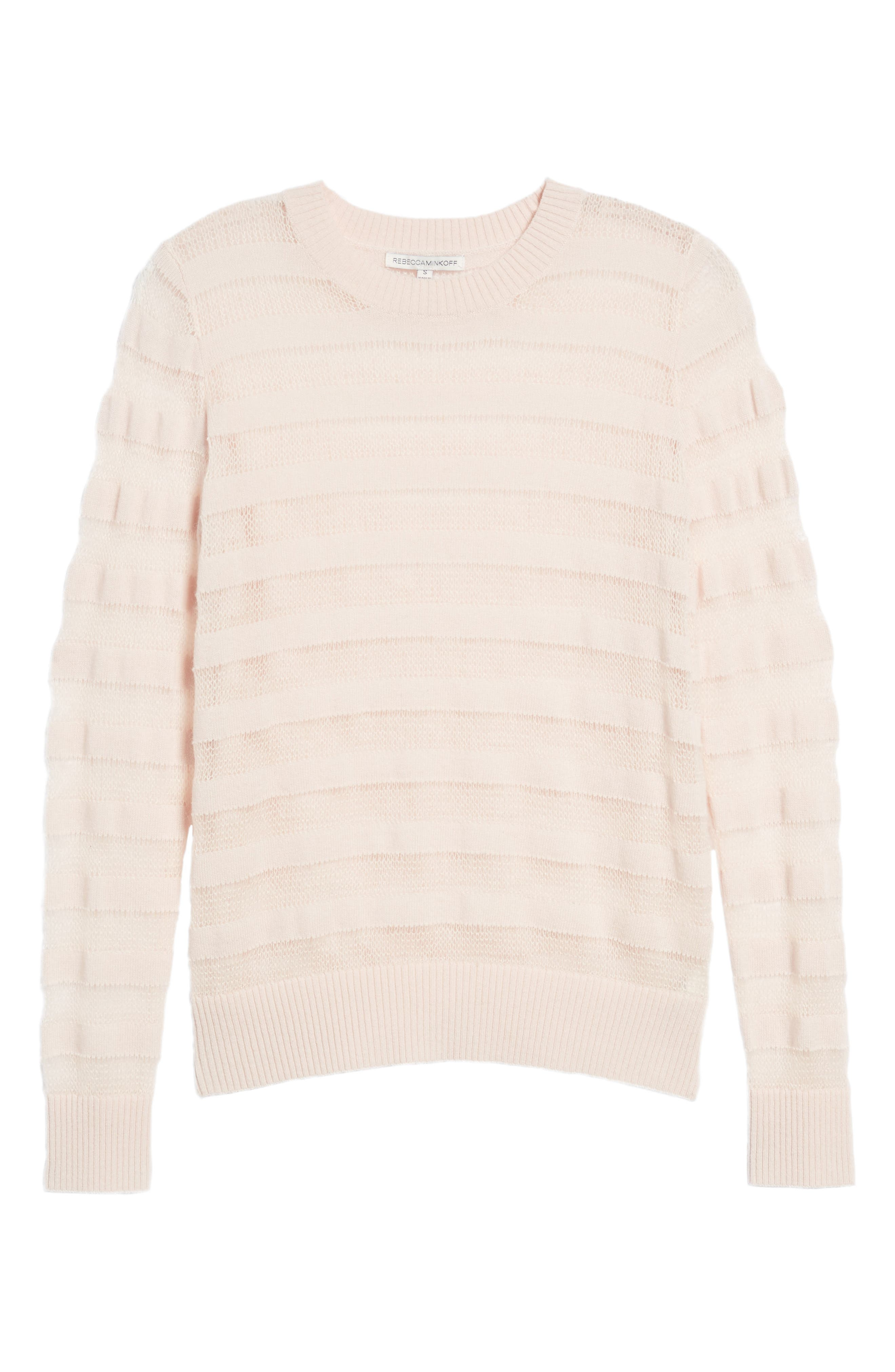 Theo Stripe Sweater,                             Alternate thumbnail 5, color,                             Zephyr