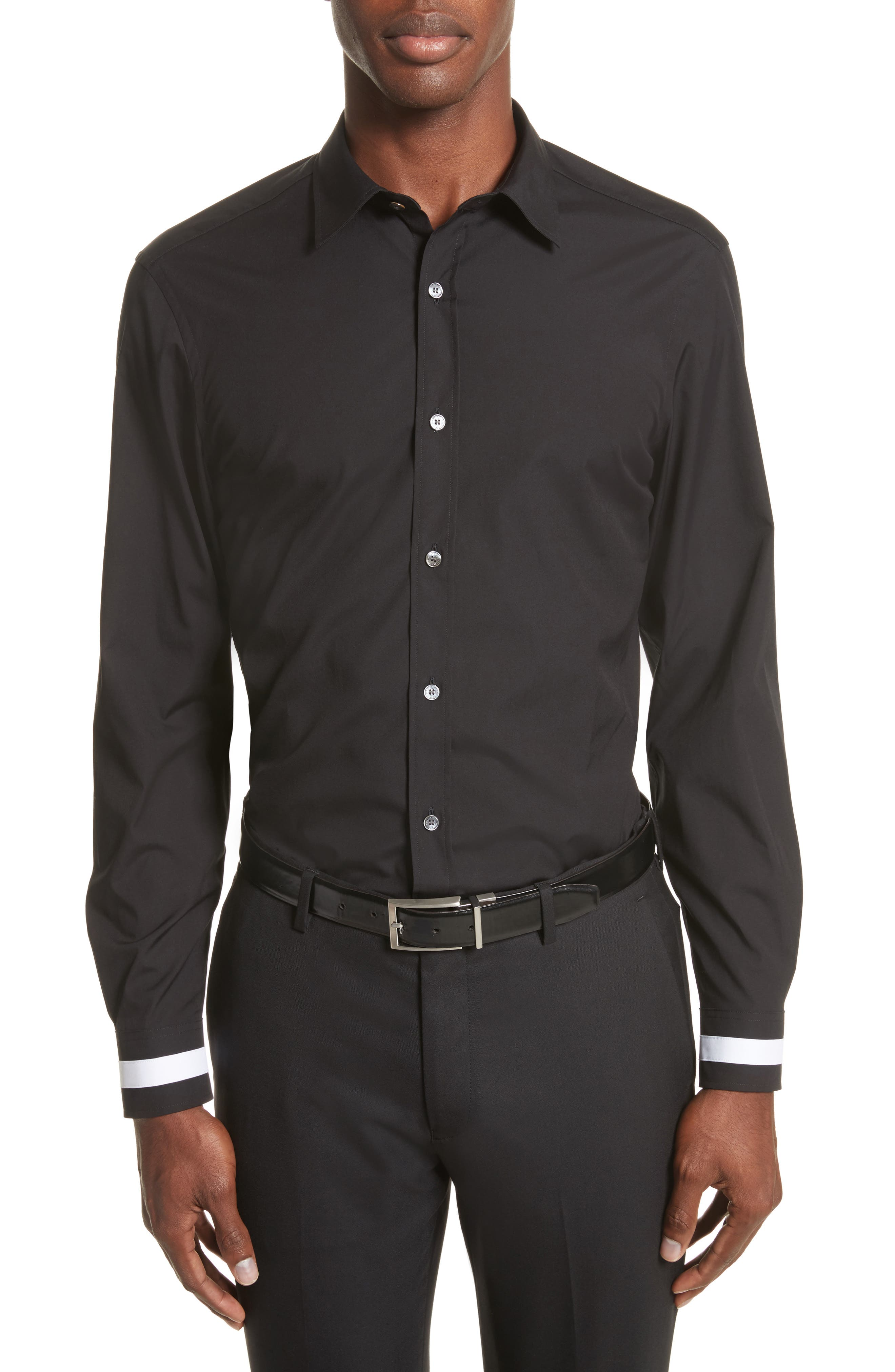 Burberry Reynold Aboyd Slim Fit Contrast Trim Sport Shirt