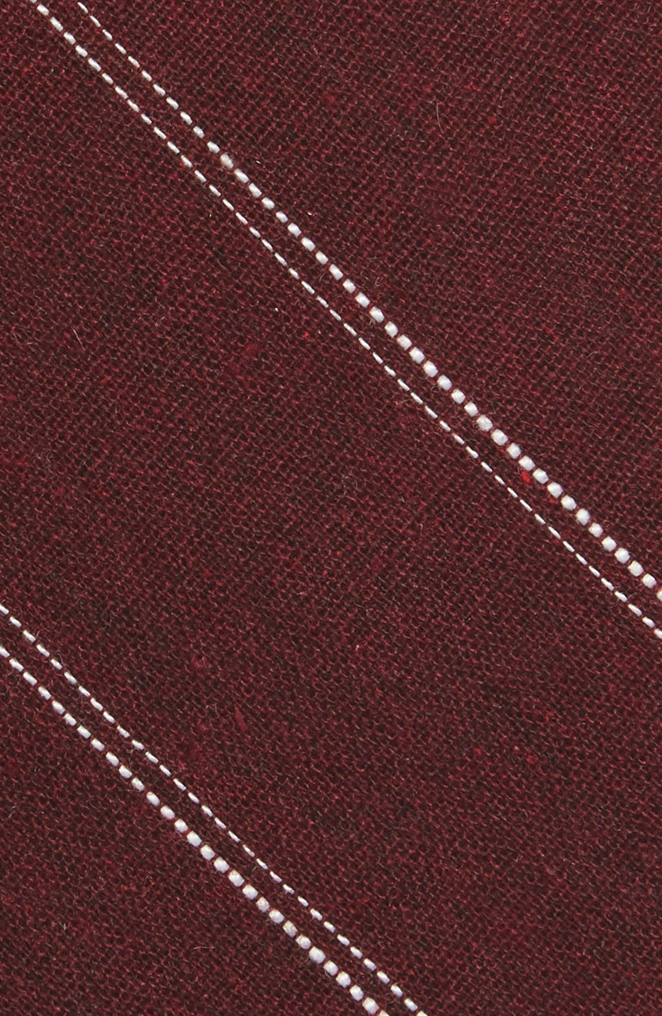 Alternate Image 2  - Nordstrom Men's Shop Palamino Stripe Cotton & Linen Skinny Tie