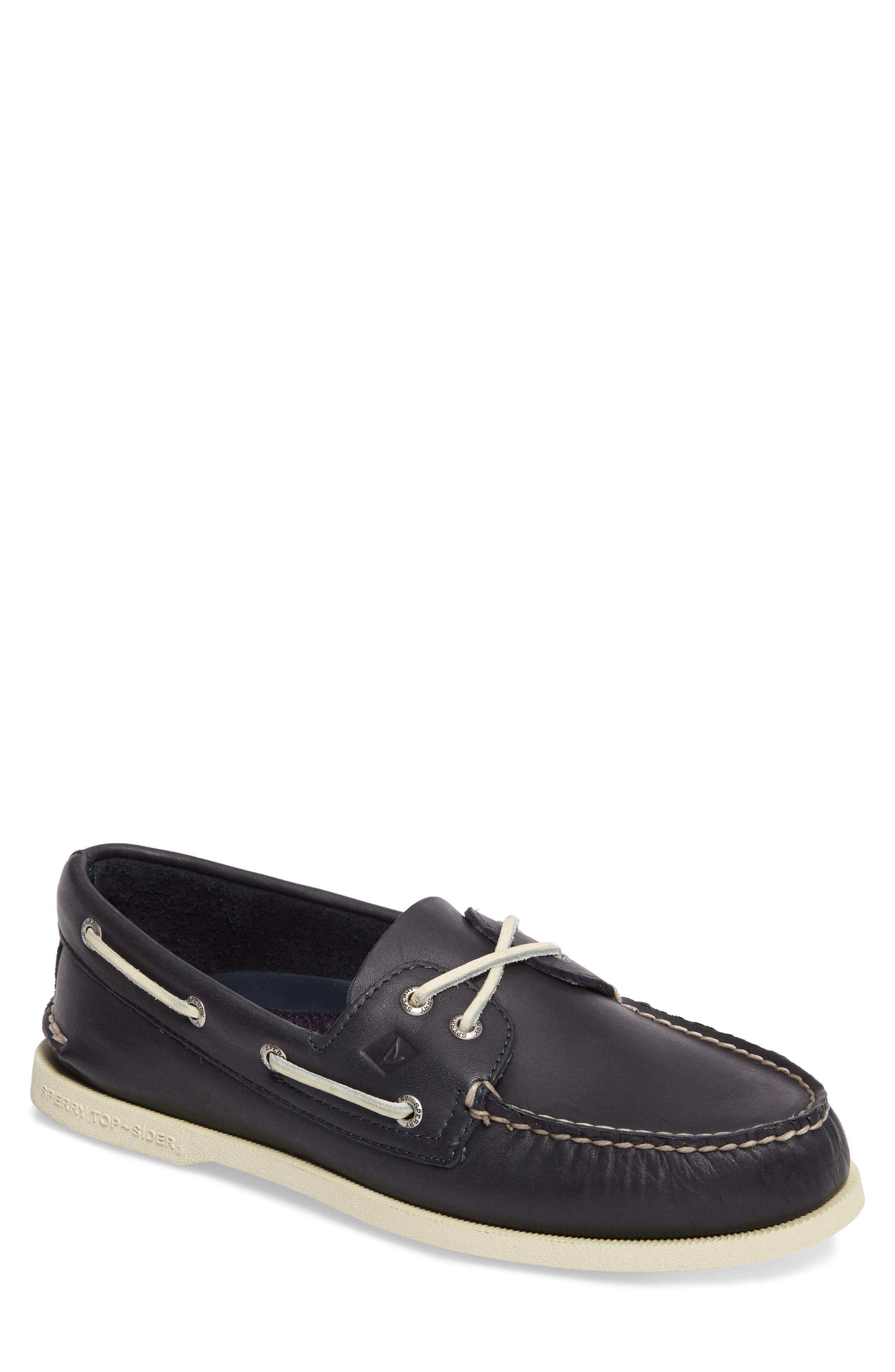 Authentic Original Boat Shoe,                         Main,                         color, Navy