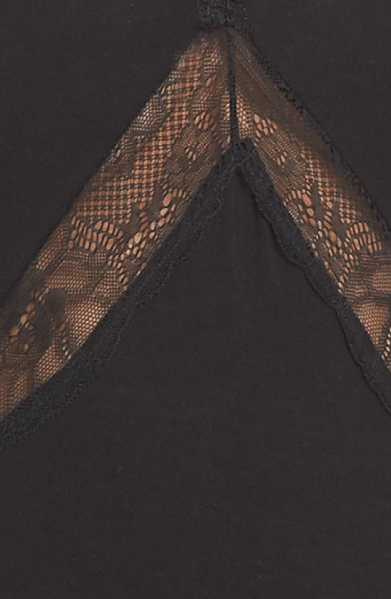 Giselle Lace Bodysuit,                             Alternate thumbnail 6, color,                             Black